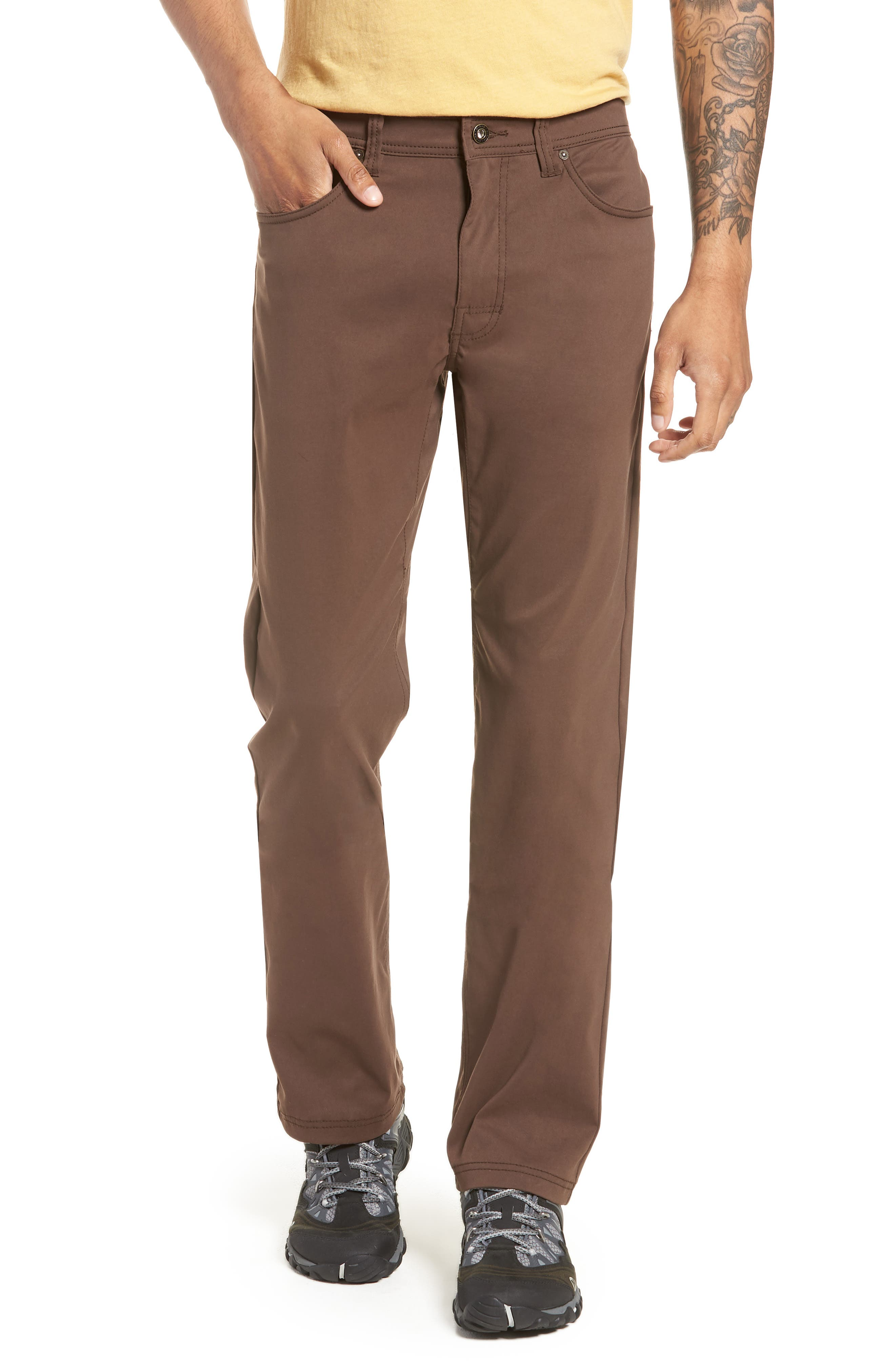 PRANA Brion Slim Fit Pants in Coffee Bean