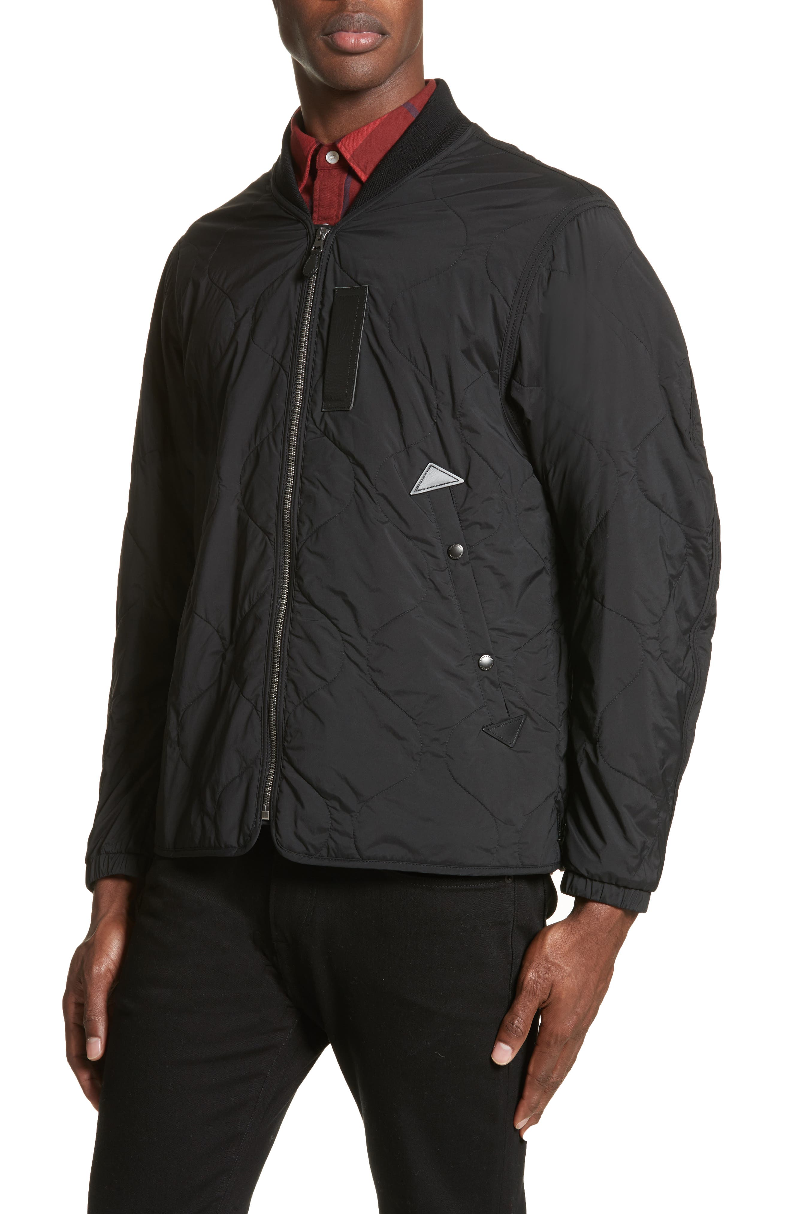 Marshall Quilted Tech Bomber Jacket,                             Alternate thumbnail 4, color,