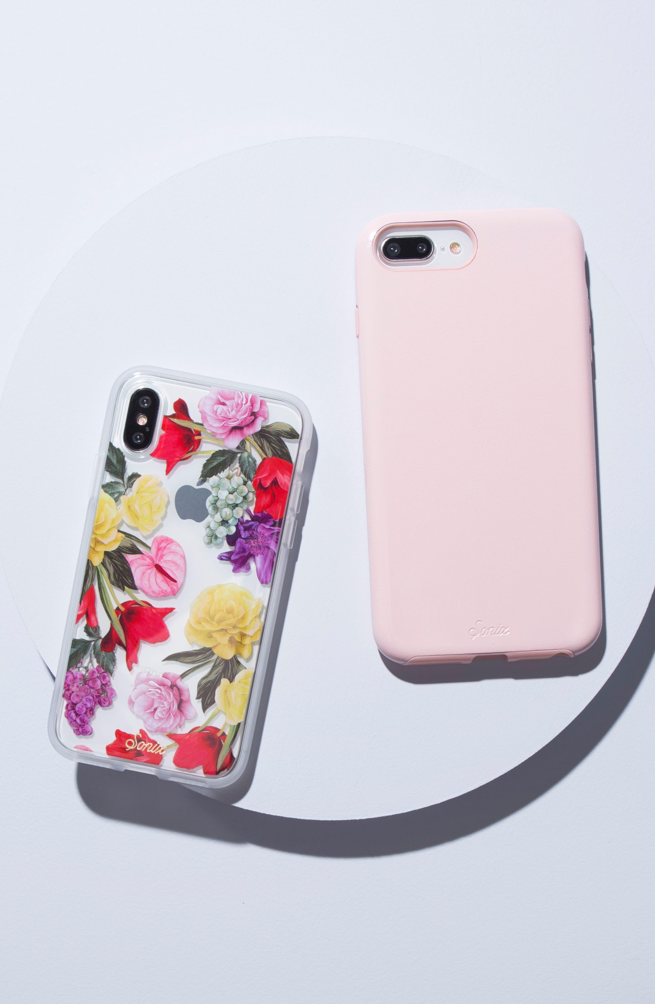 Cherry Faux Leather iPhone 6/6s/7/8 Plus Case,                             Alternate thumbnail 14, color,