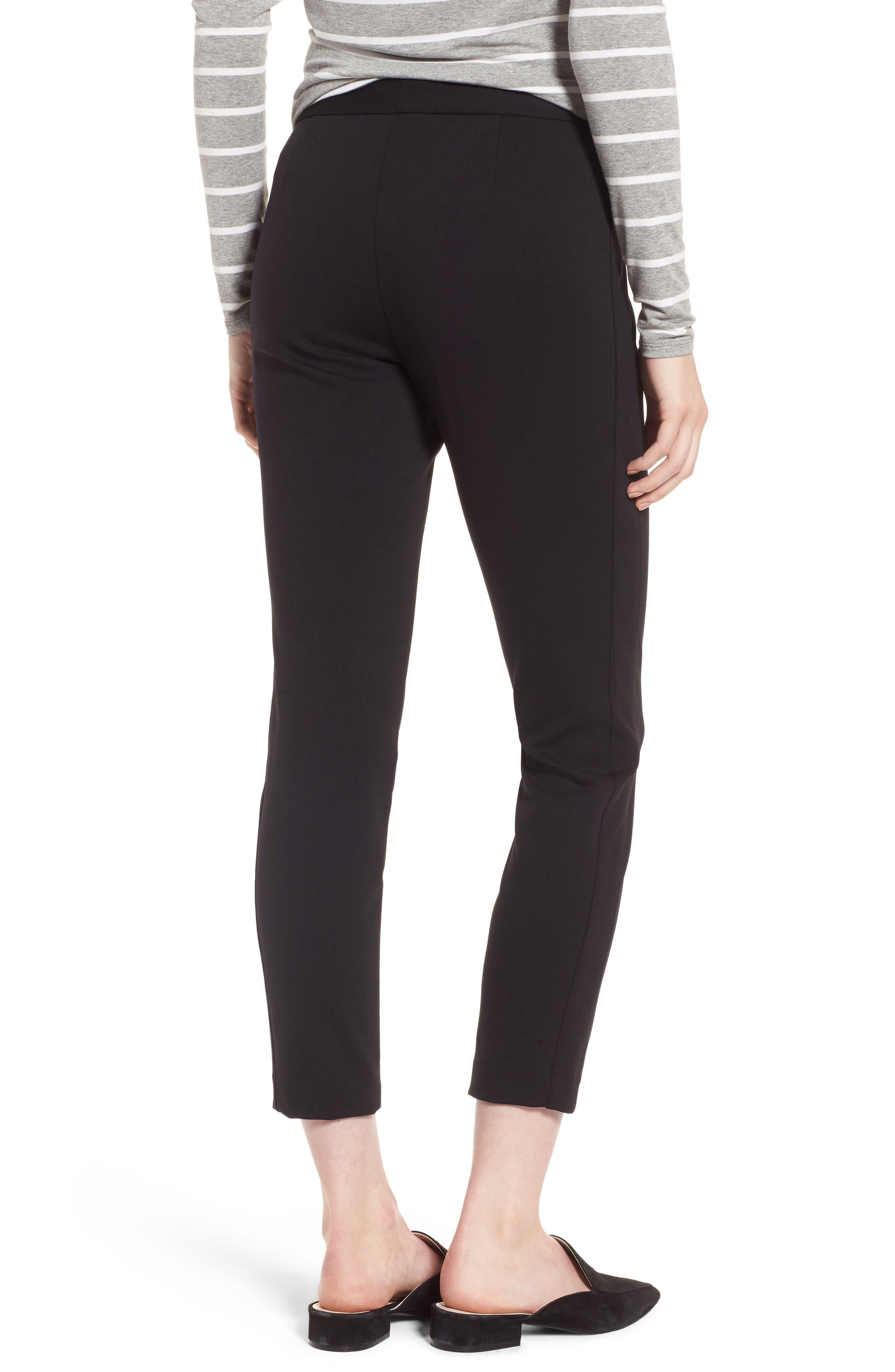 Exposed Zip Knit Pants,                             Alternate thumbnail 2, color,                             001