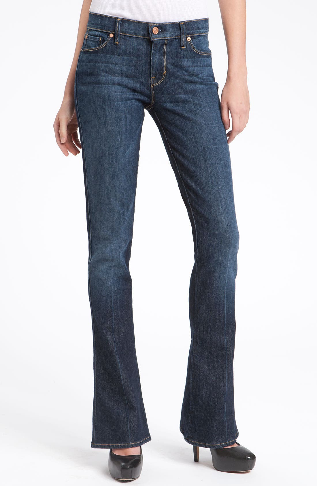 7 For All Mankind 'Kaylie' Bootcut Jeans,                             Main thumbnail 1, color,                             400