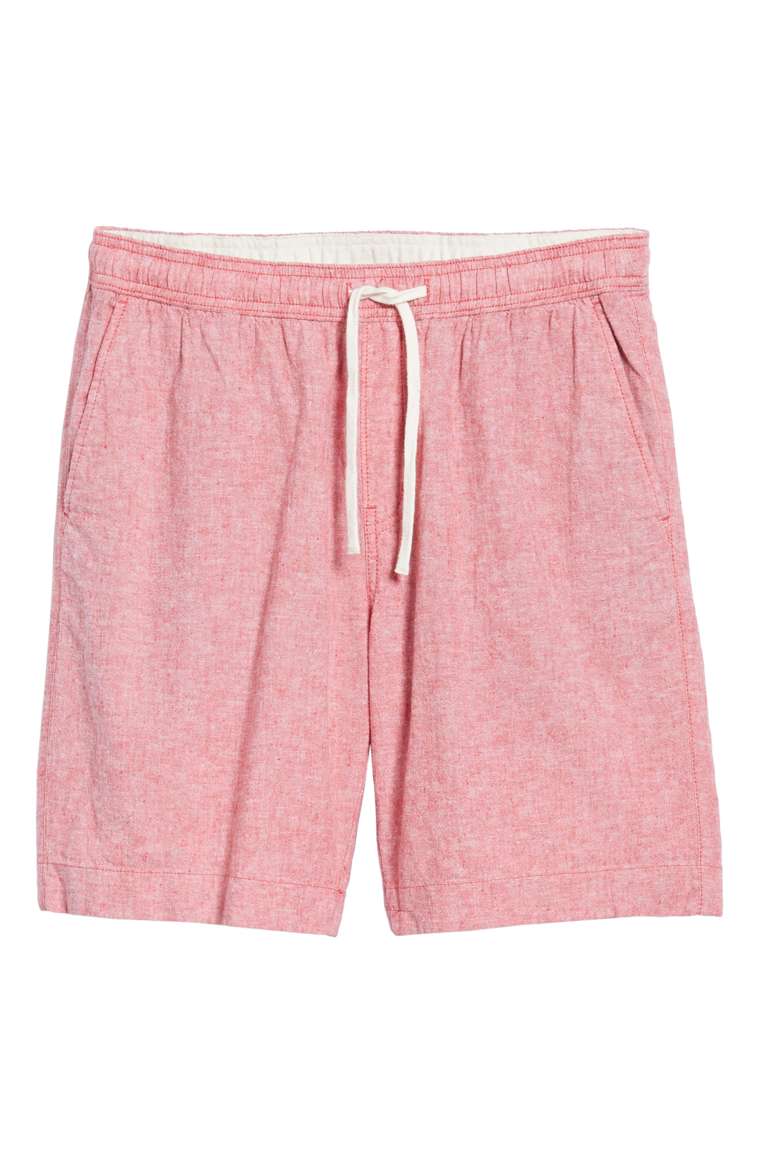 Drawstring Linen Blend Shorts,                             Alternate thumbnail 24, color,