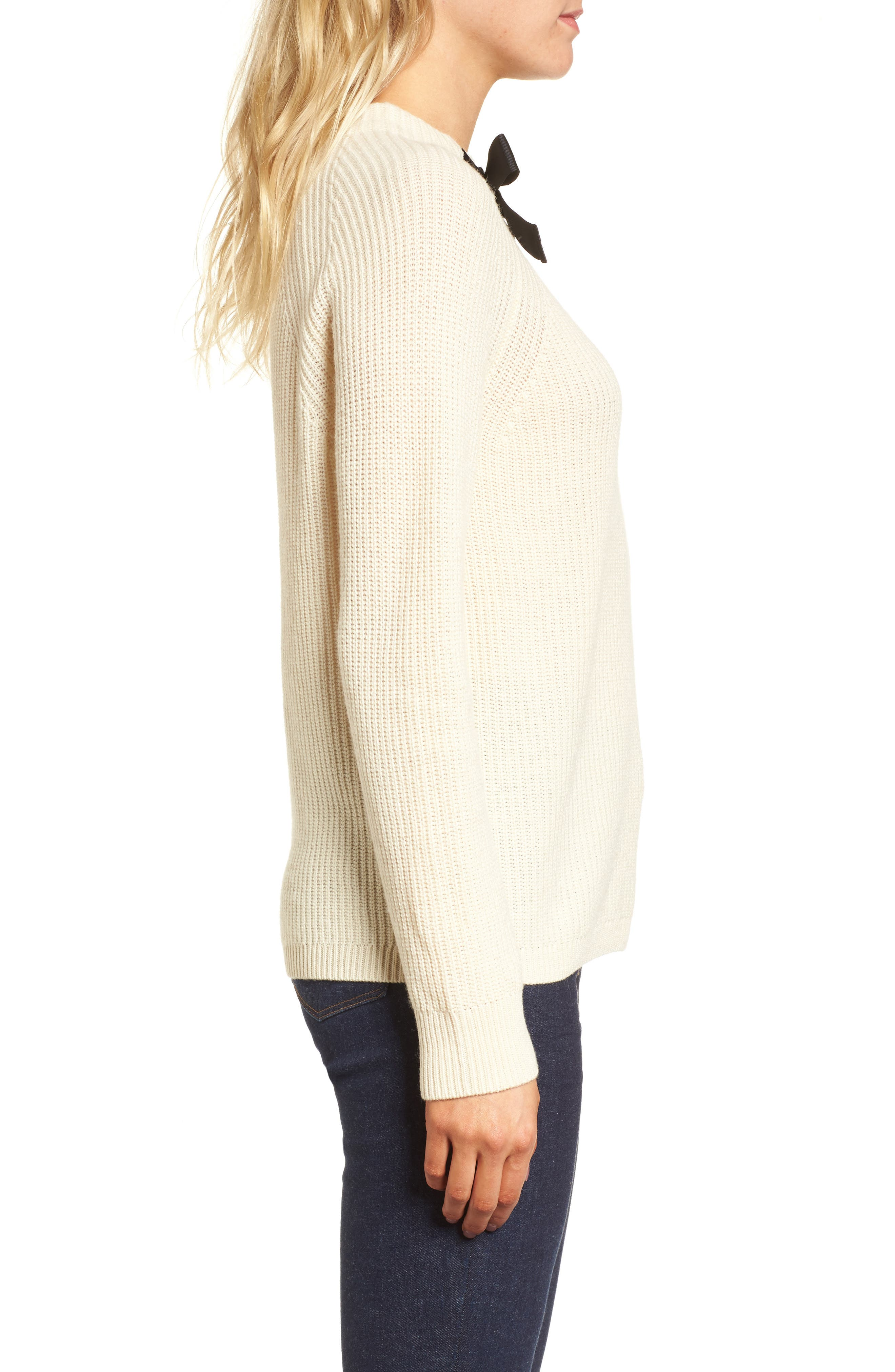 Gayle Tie Neck Sweater,                             Alternate thumbnail 8, color,
