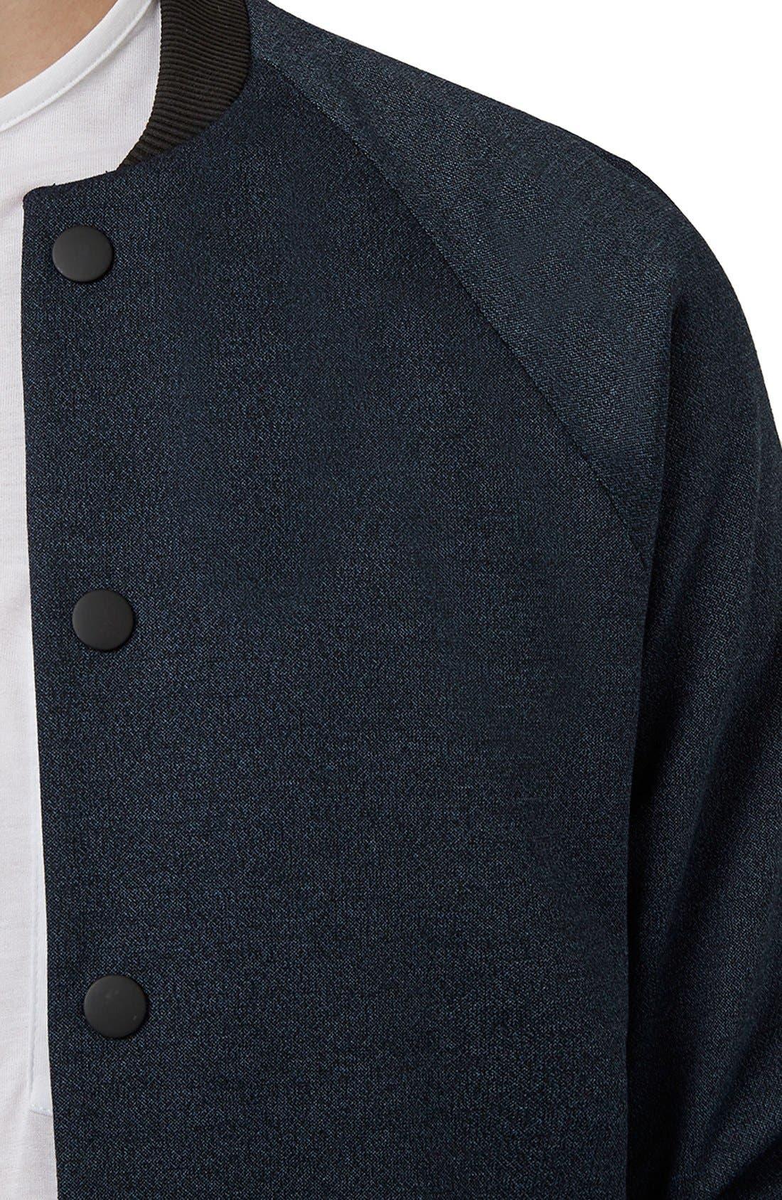 TOPMAN,                             Tailored Fit Raglan Bomber Jacket,                             Alternate thumbnail 2, color,                             410