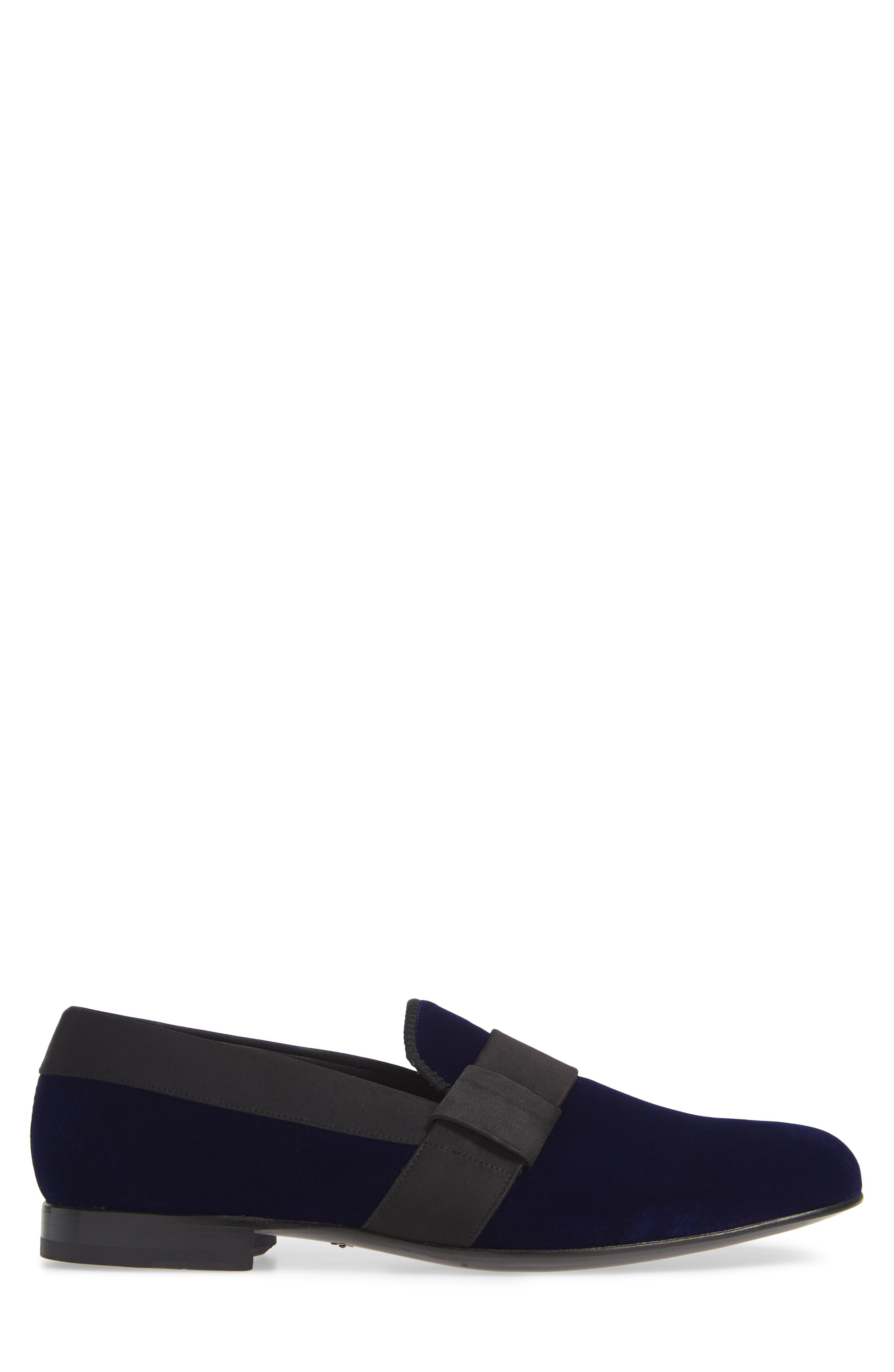 Palance Velvet Slip-On,                             Alternate thumbnail 3, color,                             BLUE VELVET