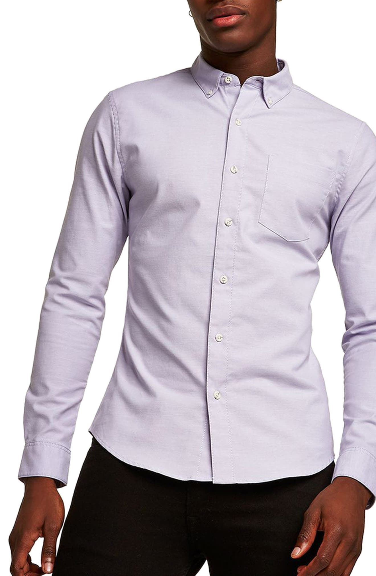 Muscle Fit Oxford Shirt,                             Main thumbnail 2, color,