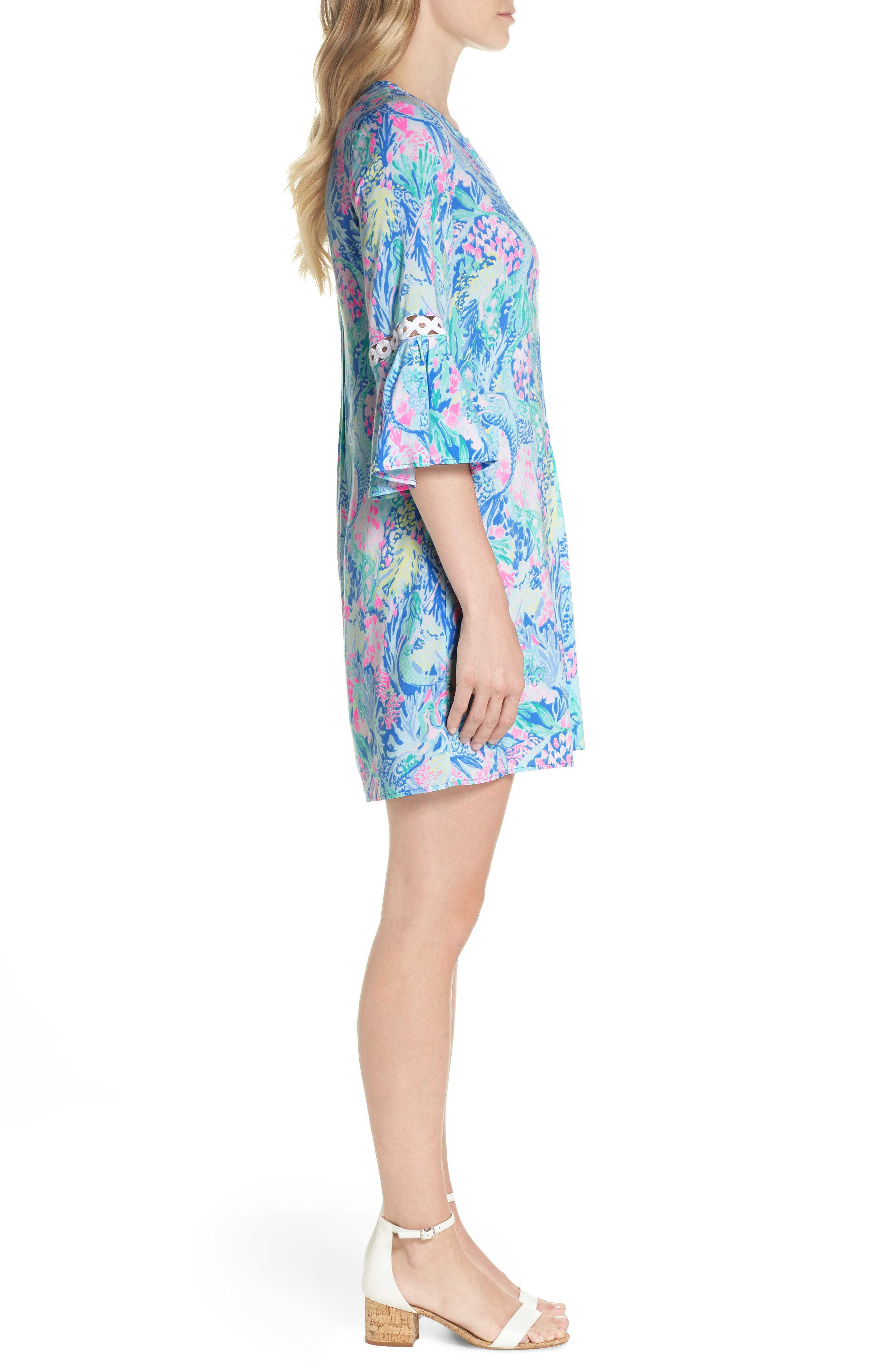 LILLY PULITZER<SUP>®</SUP>,                             Hollie Tunic Dress,                             Alternate thumbnail 3, color,                             MULTI MERMAIDS COVE