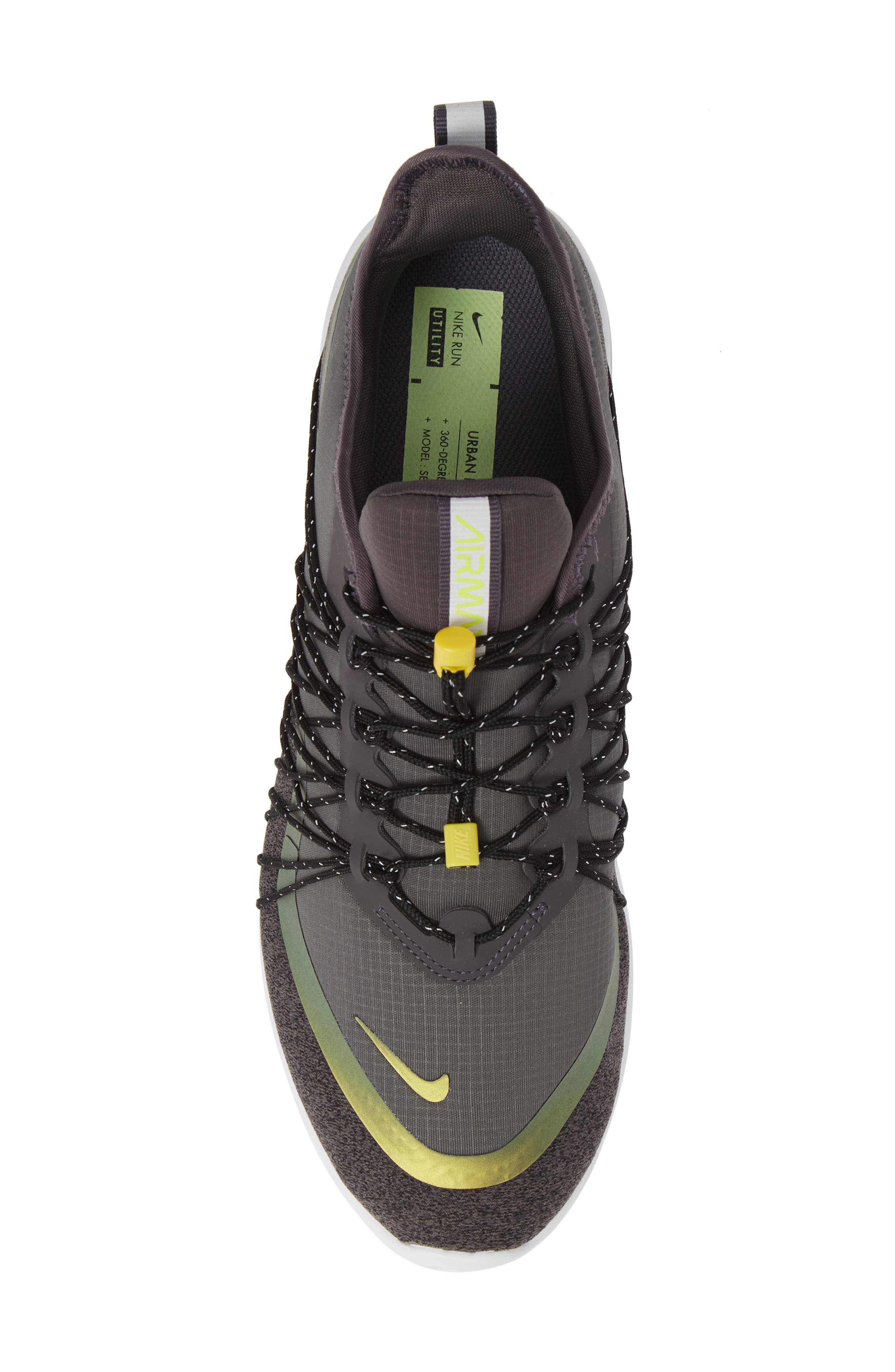 Air Max Sequent 4 Utility Running Shoe,                             Alternate thumbnail 5, color,                             THUNDER GREY/ VOLT