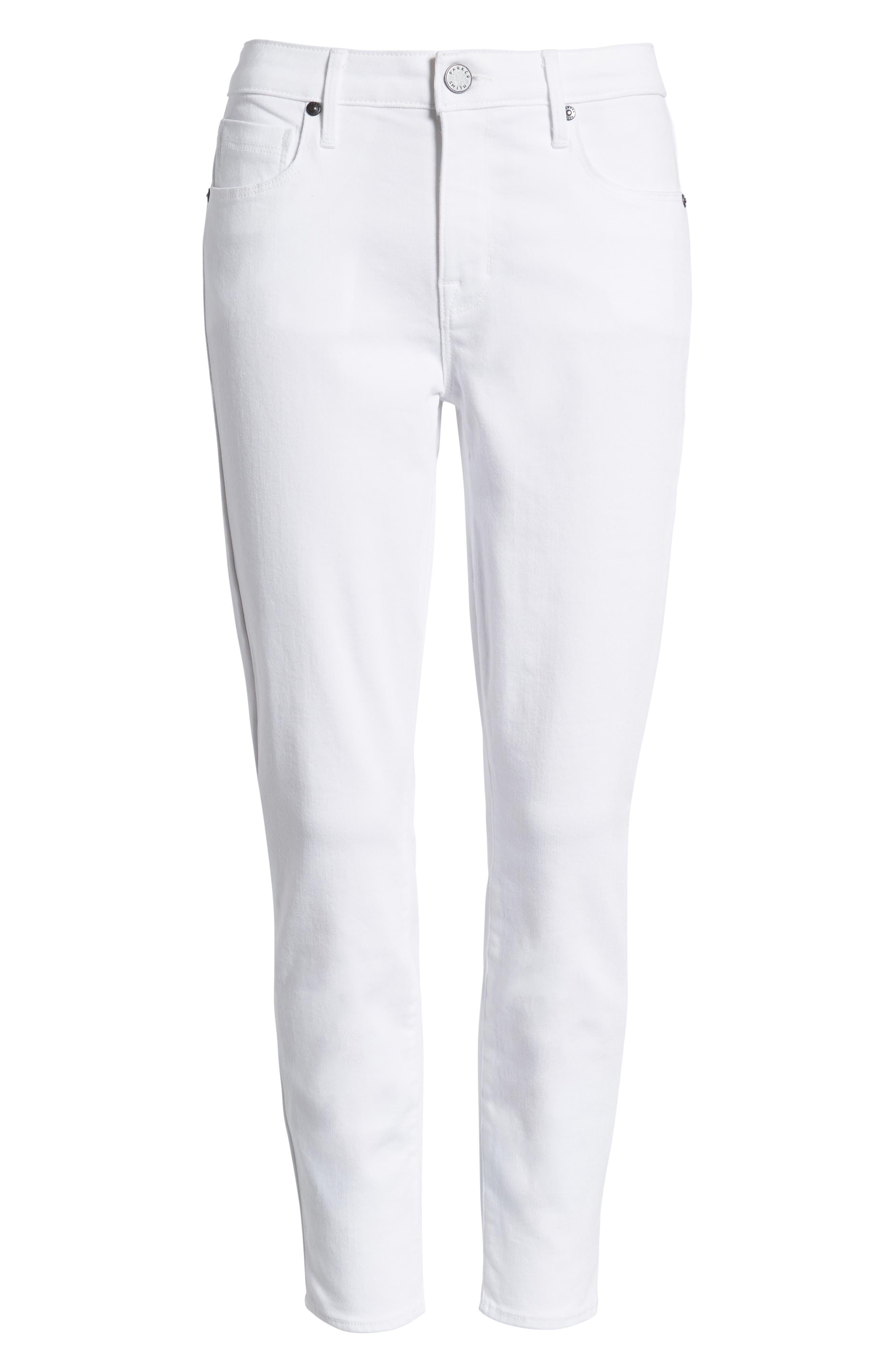 Ava Crop Skinny Jeans,                             Alternate thumbnail 7, color,                             100
