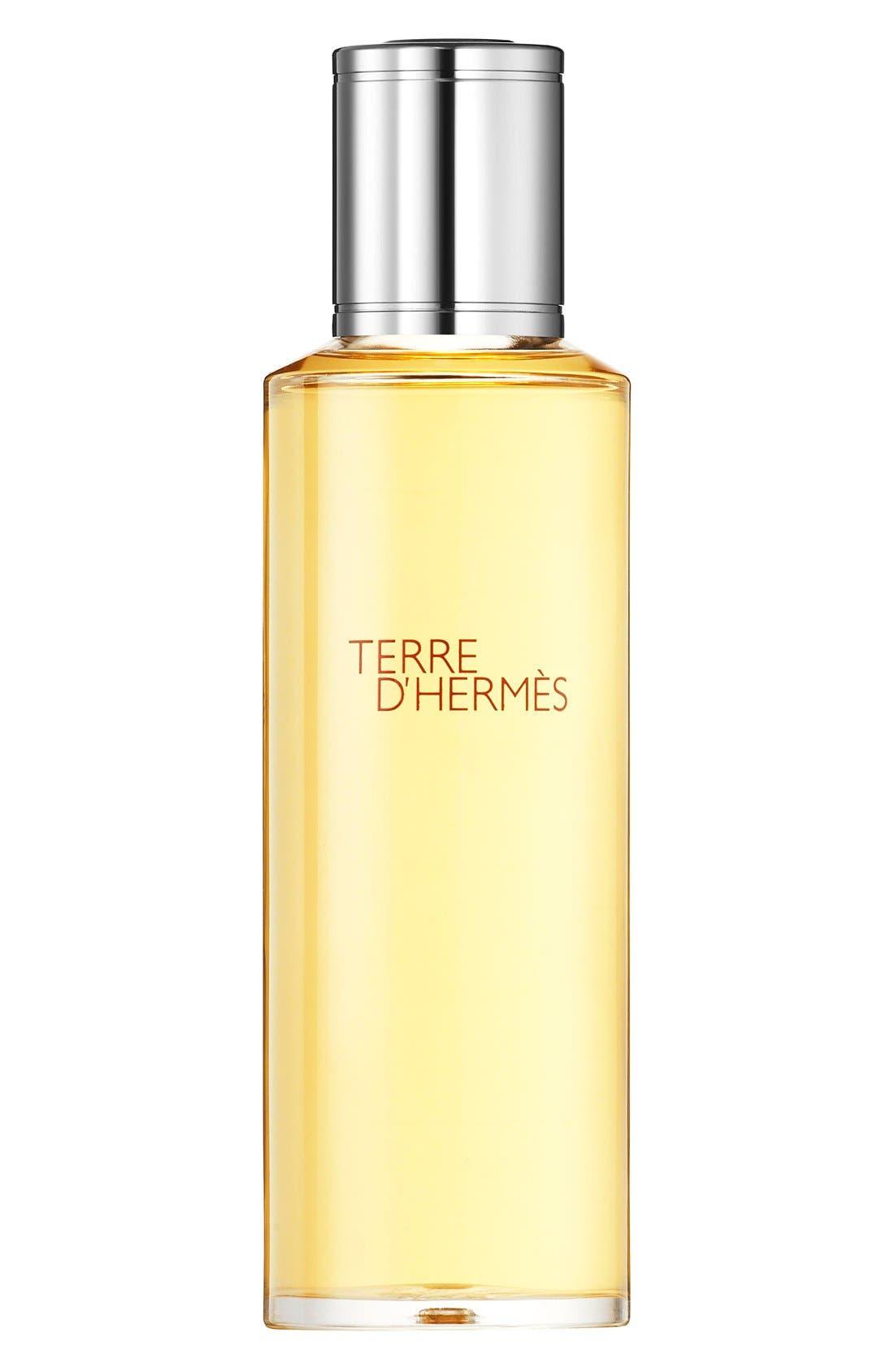 HERMÈS,                             Terre d'Hermès - Pure perfume Bel Objet refill bottle,                             Main thumbnail 1, color,                             NO COLOR