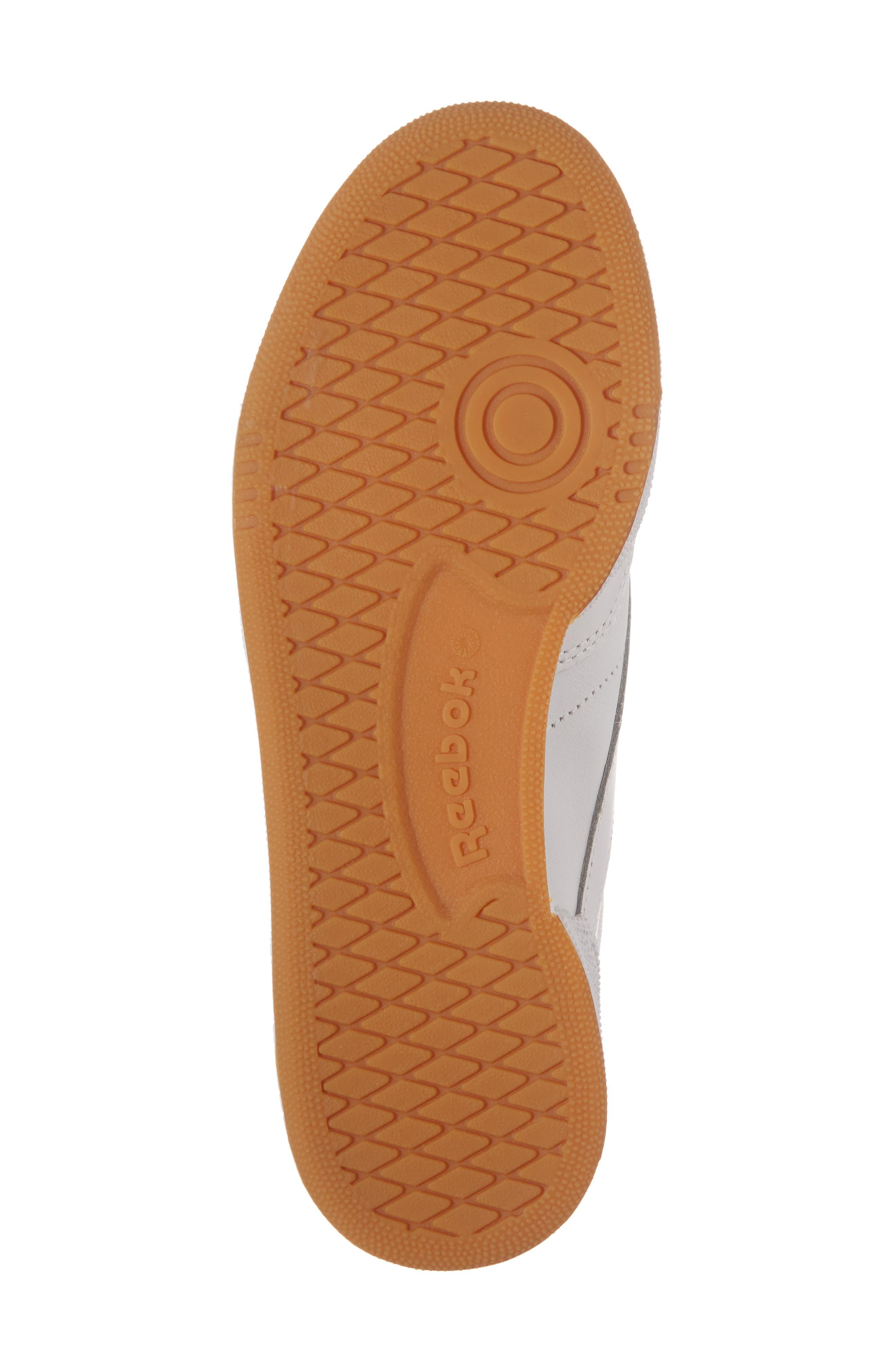 Club C 85 Sneaker,                             Alternate thumbnail 6, color,                             WHITE/ LIGHT GREY/ GUM