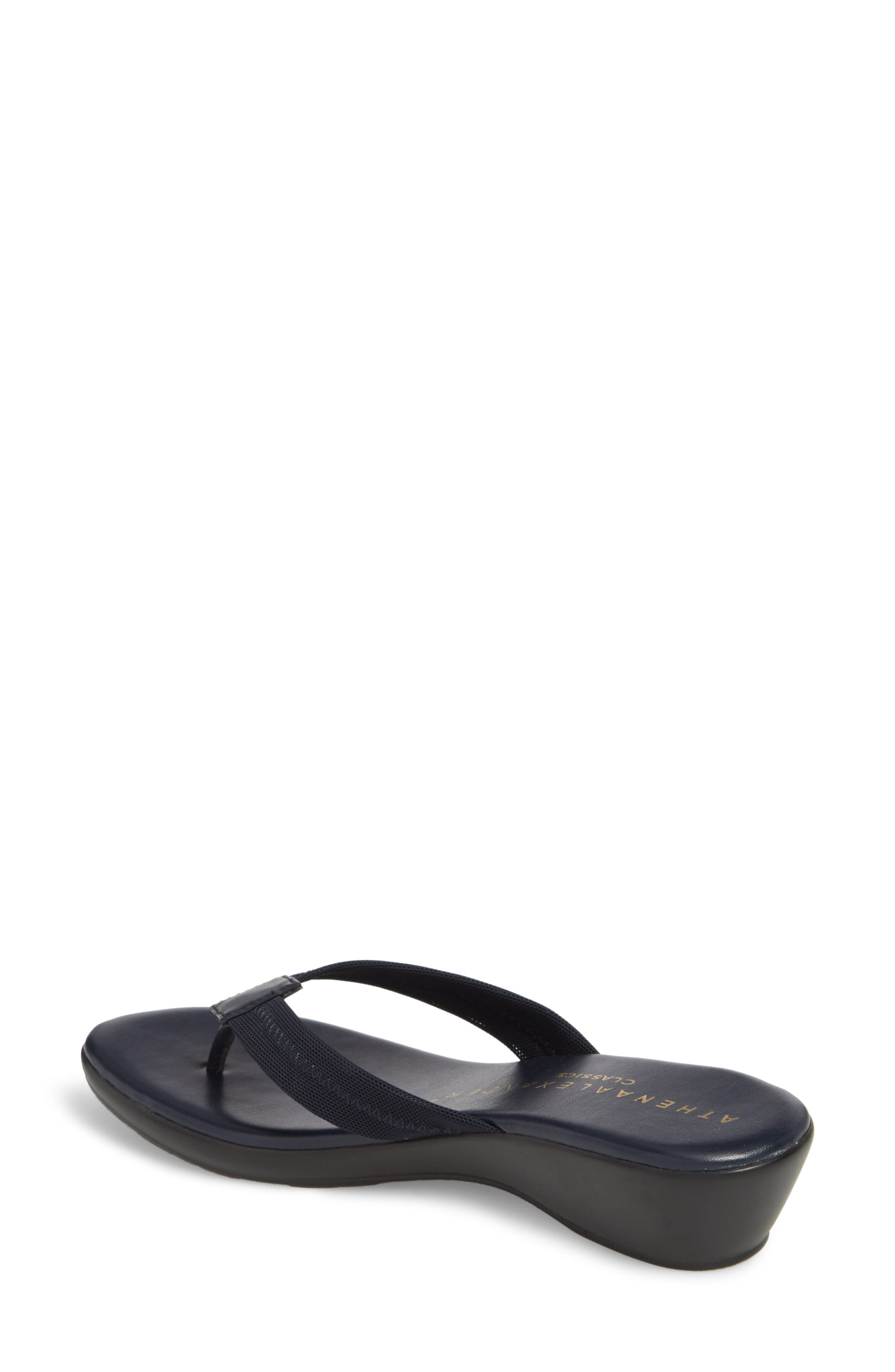 Ying Flip Flop,                             Alternate thumbnail 2, color,                             NAVY STRETCH FABRIC