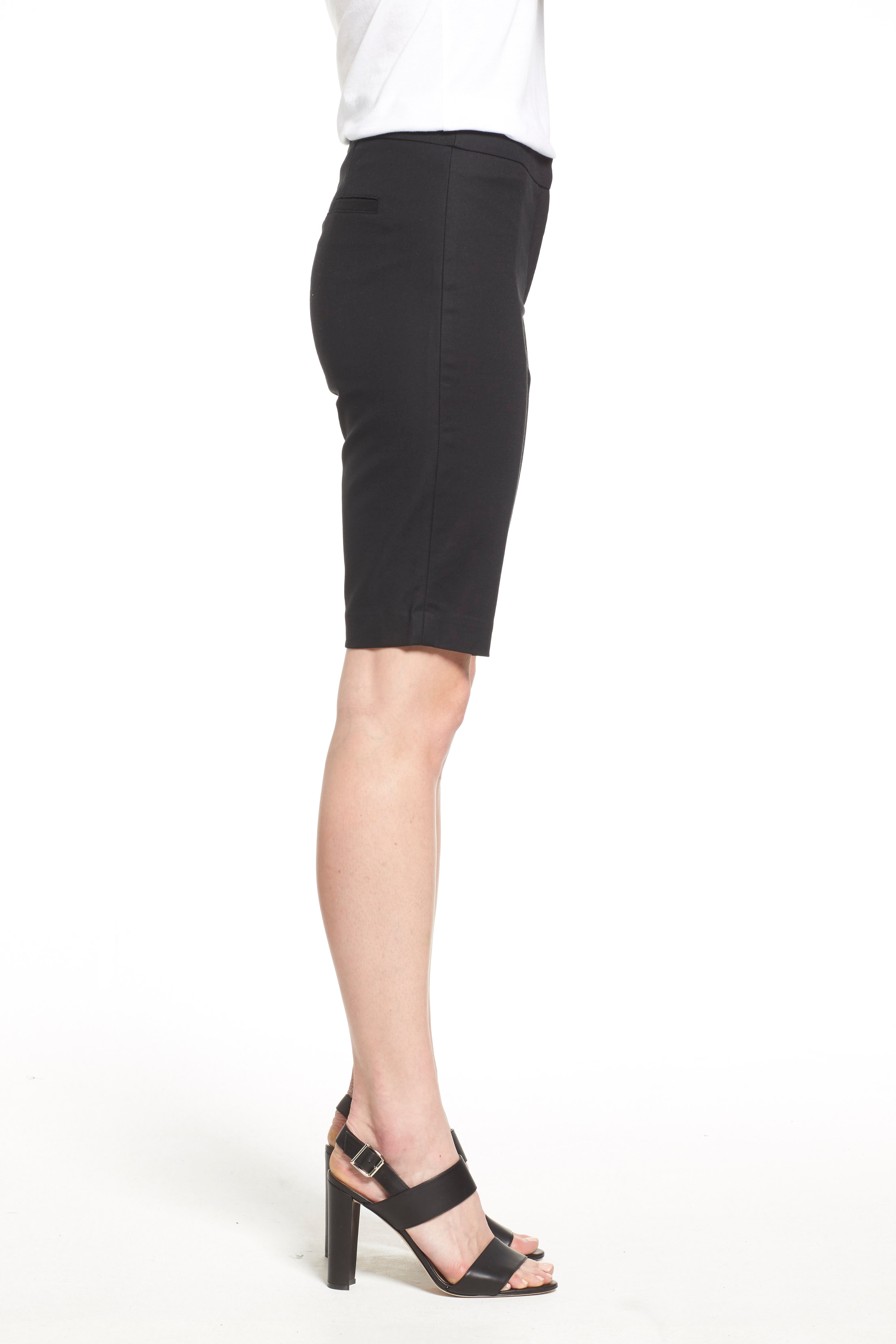 'The Perfect' Stretch Woven Trouser Shorts,                             Alternate thumbnail 5, color,                             BLACK ONYX