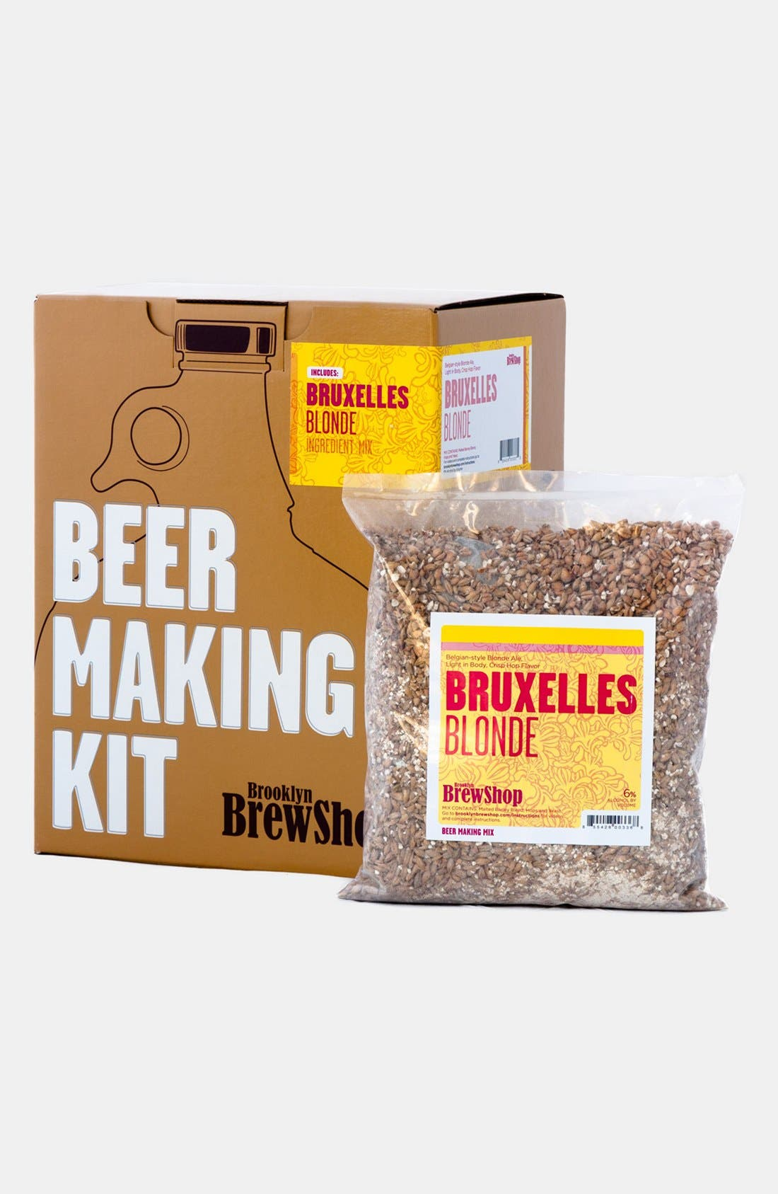 BROOKLYN BREW SHOP,                             'Bruxelles Blonde' One Gallon Beer Making Kit,                             Main thumbnail 1, color,                             200
