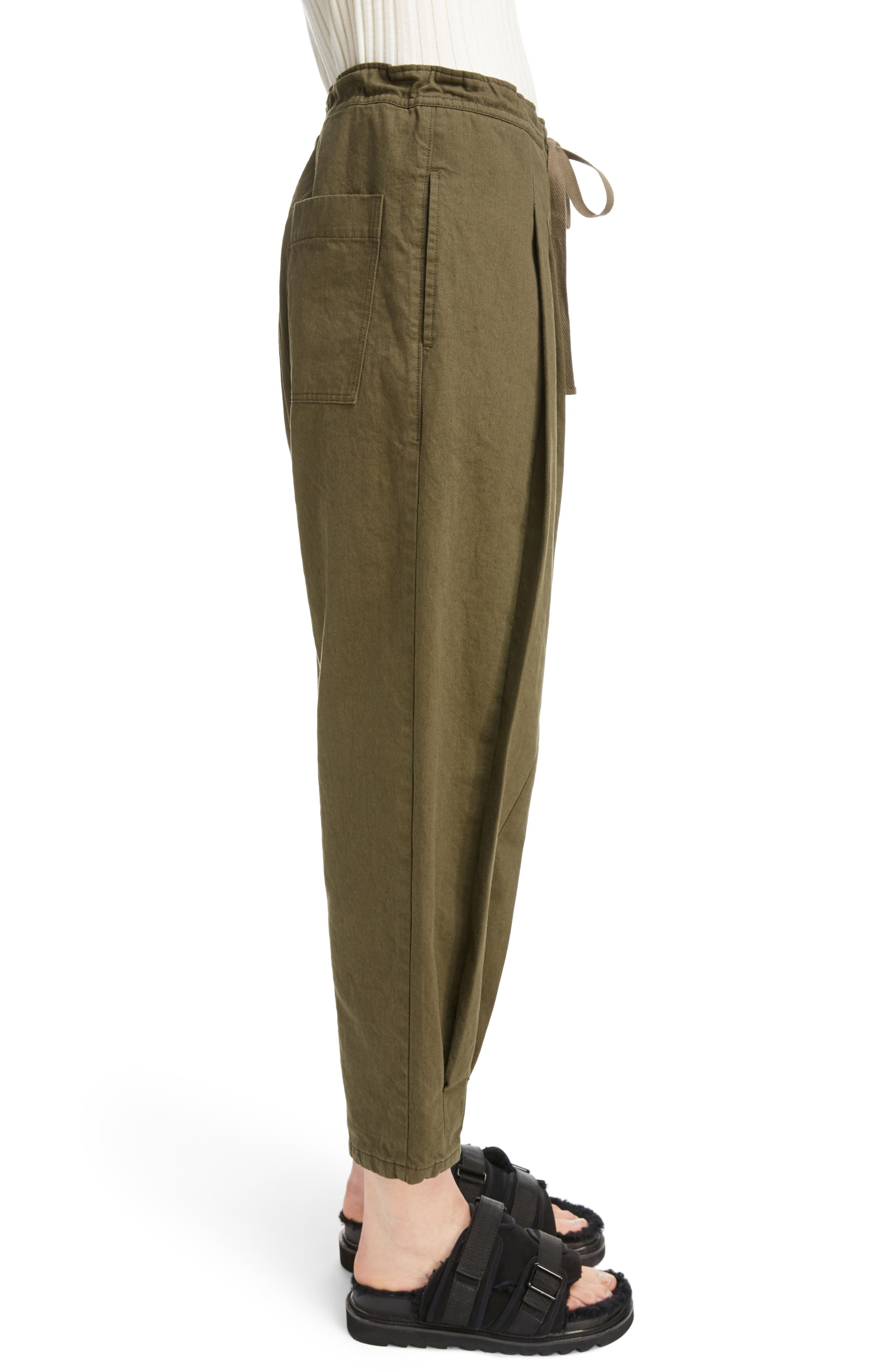 Dart Front Drawstring Pants,                             Alternate thumbnail 3, color,                             300