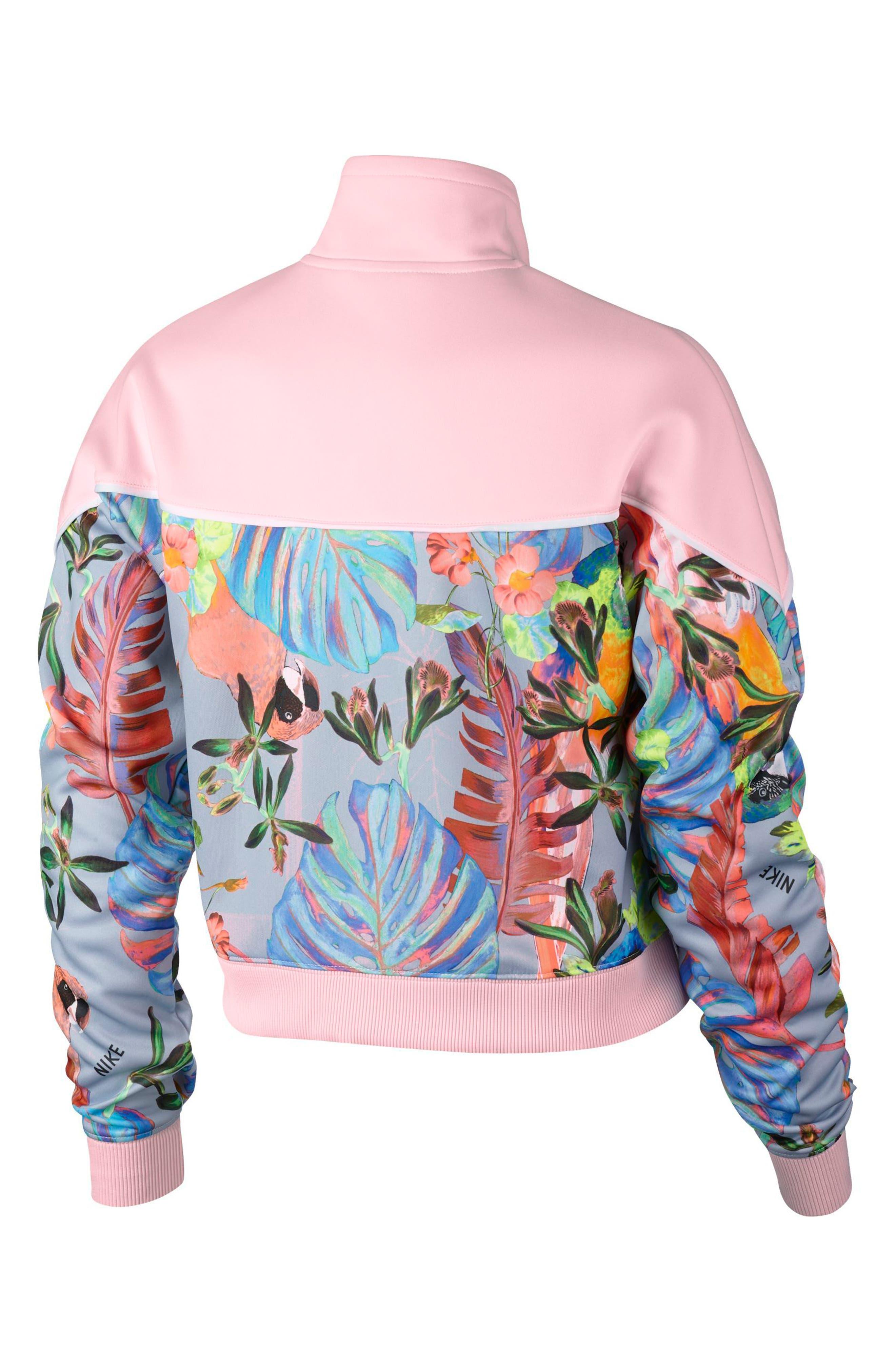 Hyper Femme Crop Jacket,                             Alternate thumbnail 2, color,                             ARCTIC PINK/ PURE PLATINUM