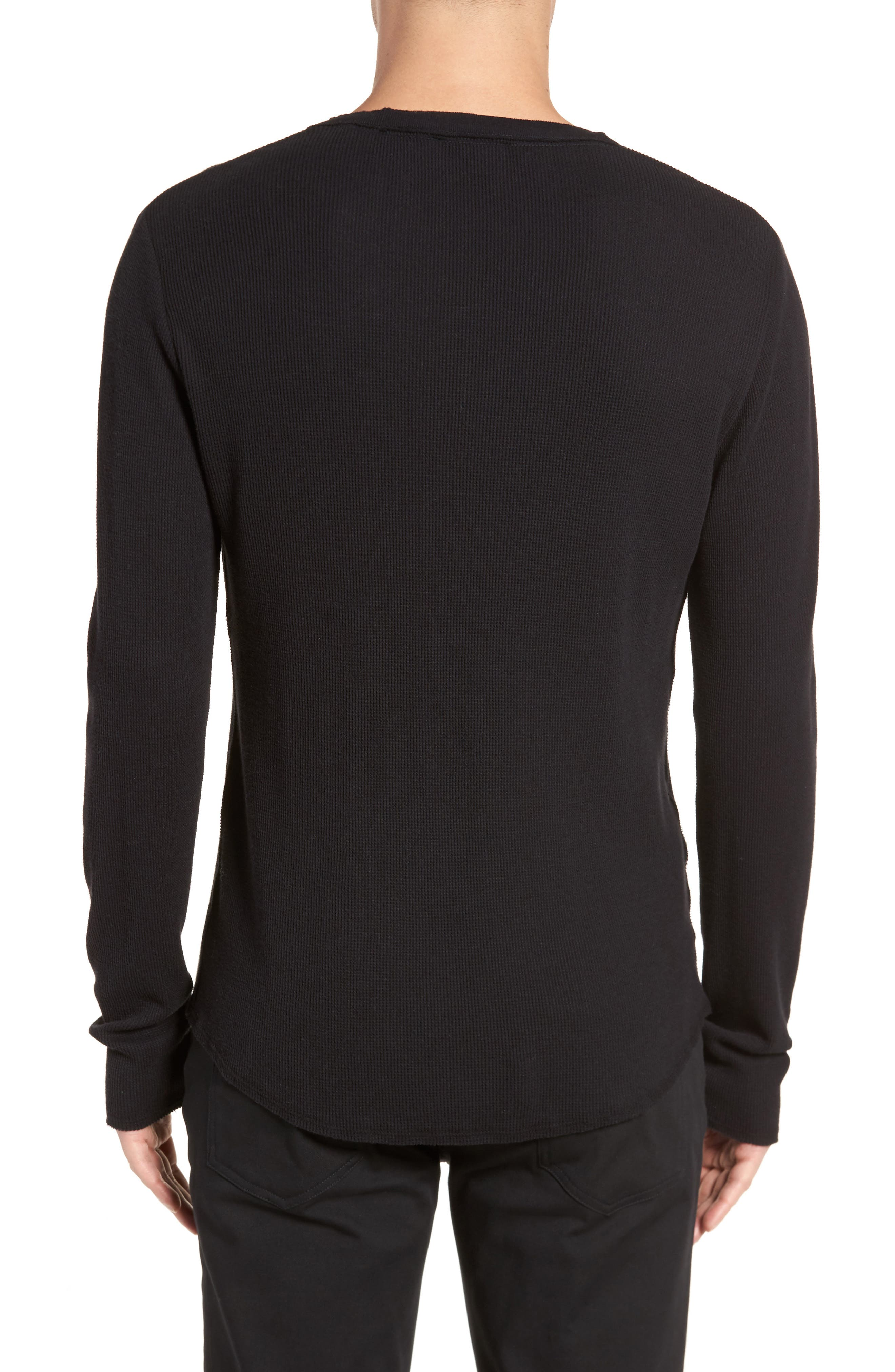 Thermal Knit Long Sleeve T-Shirt,                             Alternate thumbnail 2, color,                             001