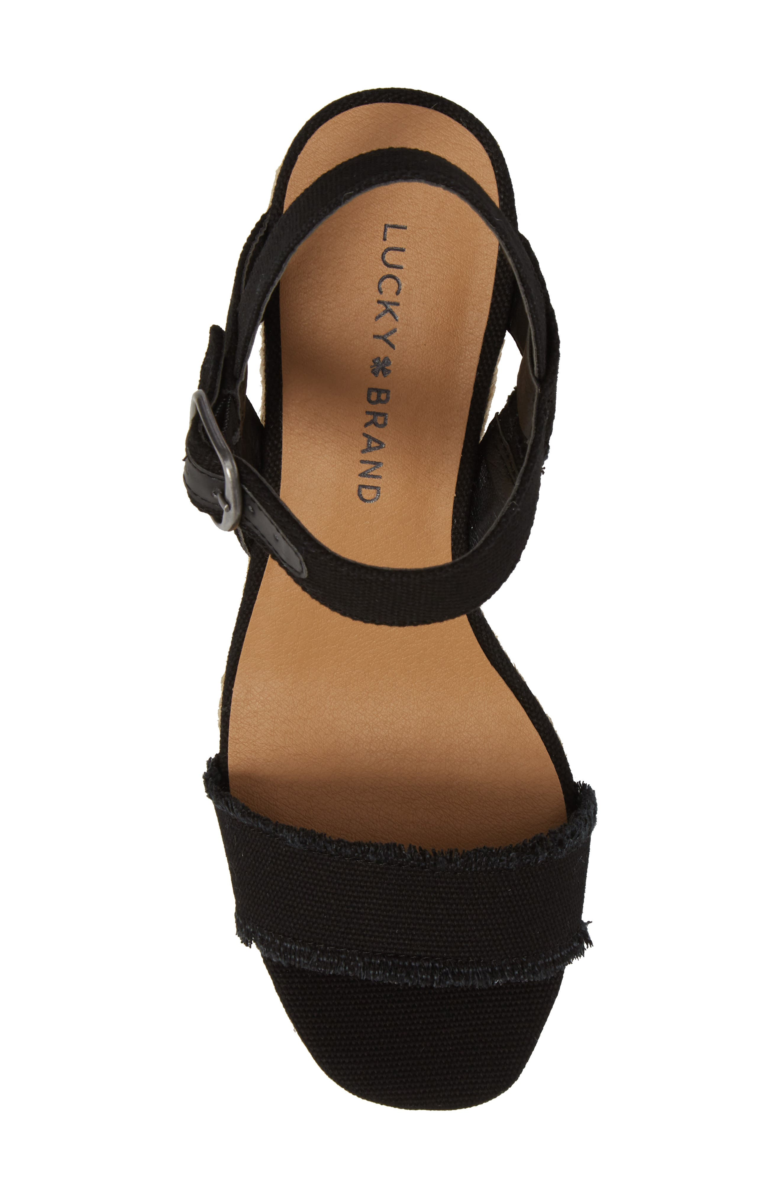 Marceline Squared Toe Wedge Sandal,                             Alternate thumbnail 5, color,                             001
