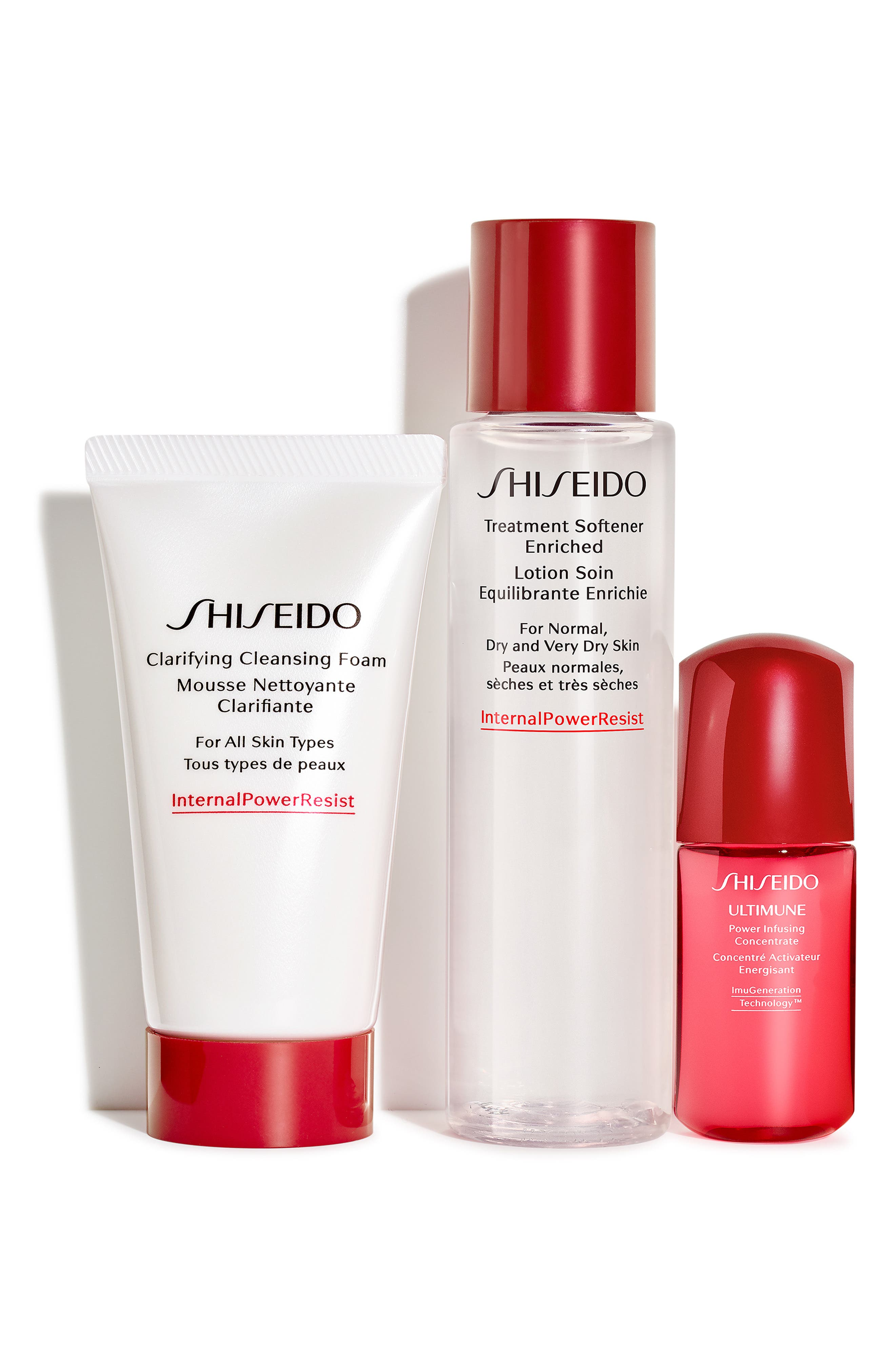 Shisiedo The Gift of Cleansing Essentials Set,                             Main thumbnail 1, color,                             000
