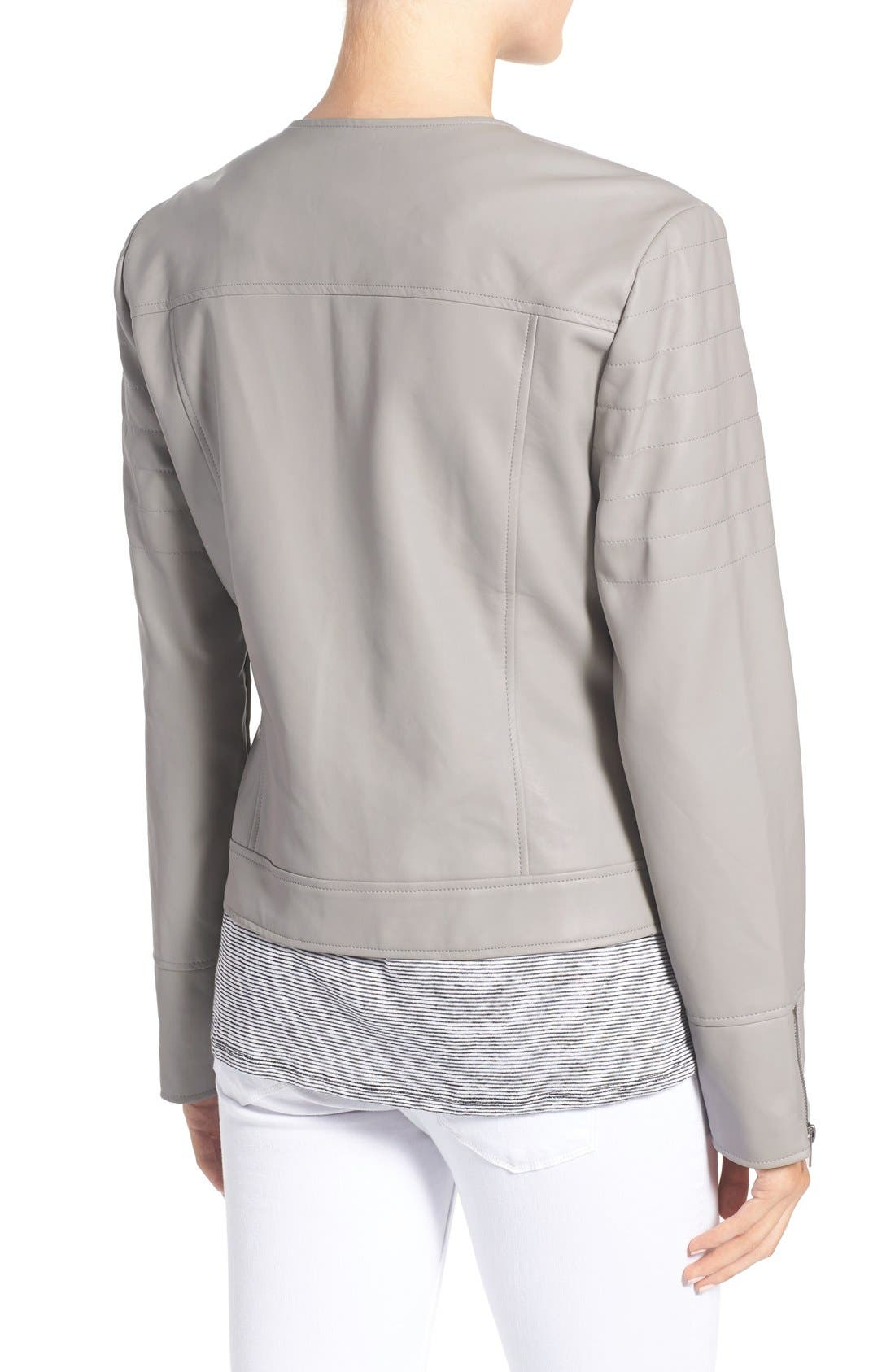 'Kadence' Faux Leather Asymmetrical Moto Jacket,                             Alternate thumbnail 5, color,