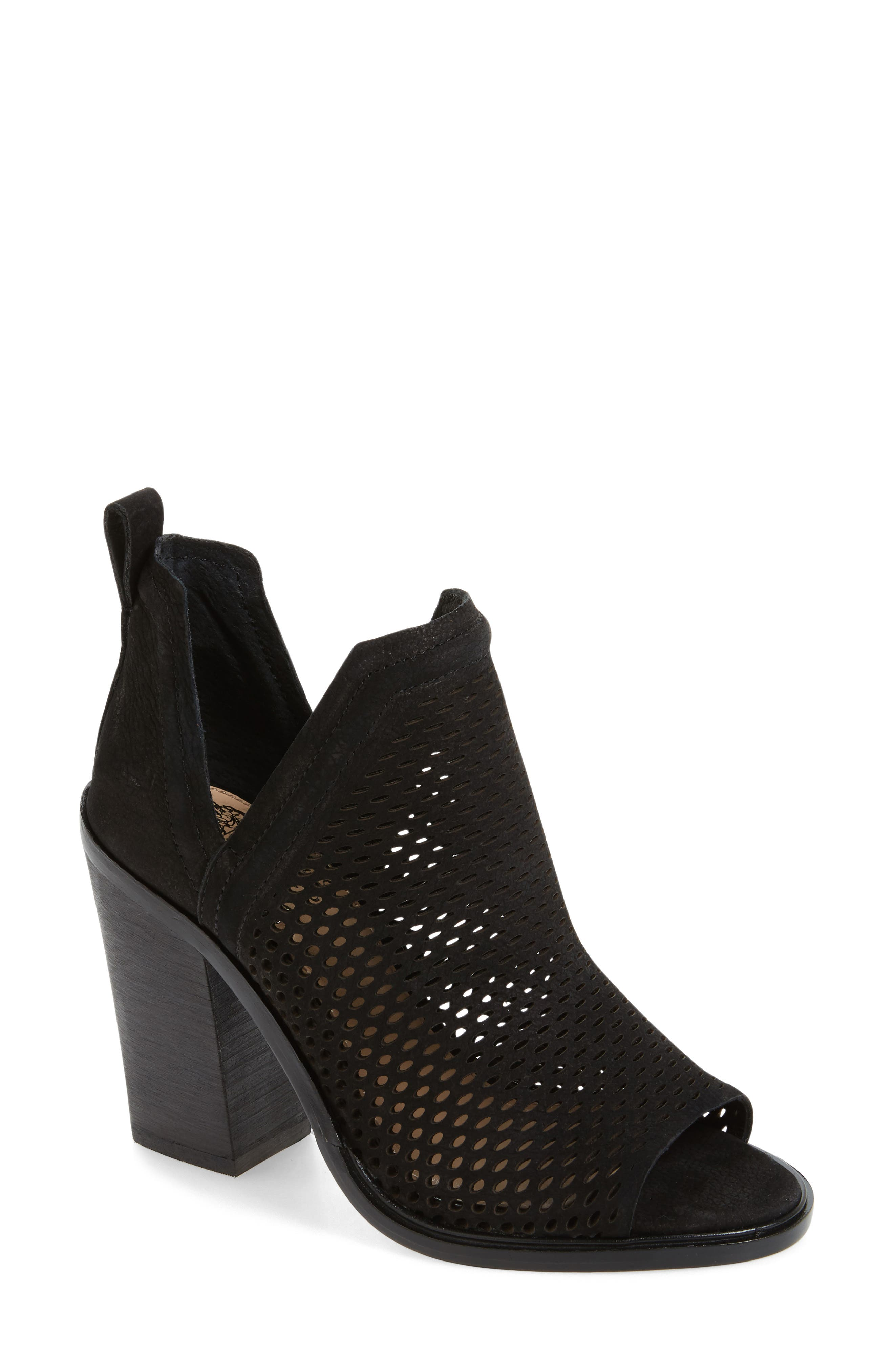 Kensa Peep Toe Bootie,                             Main thumbnail 1, color,                             001