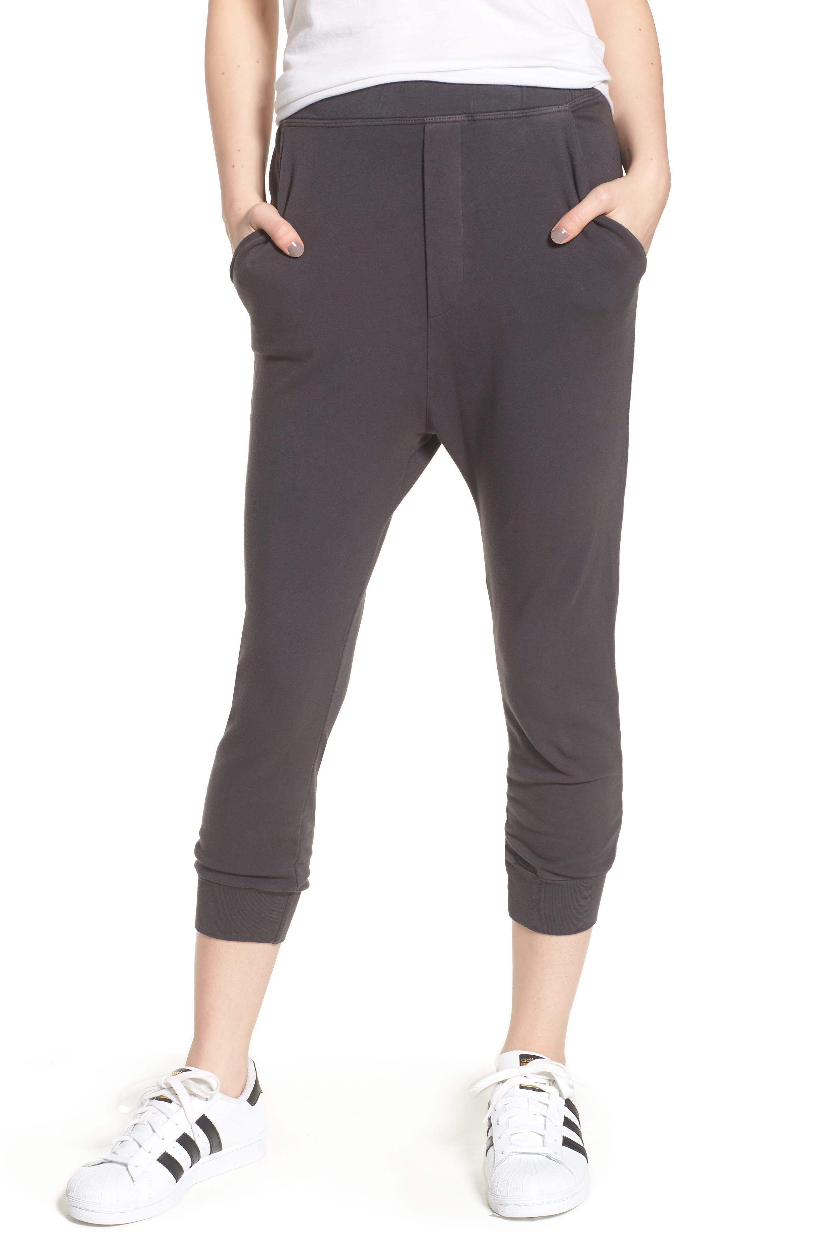 Crop Jogger Pants,                         Main,                         color, CARBON