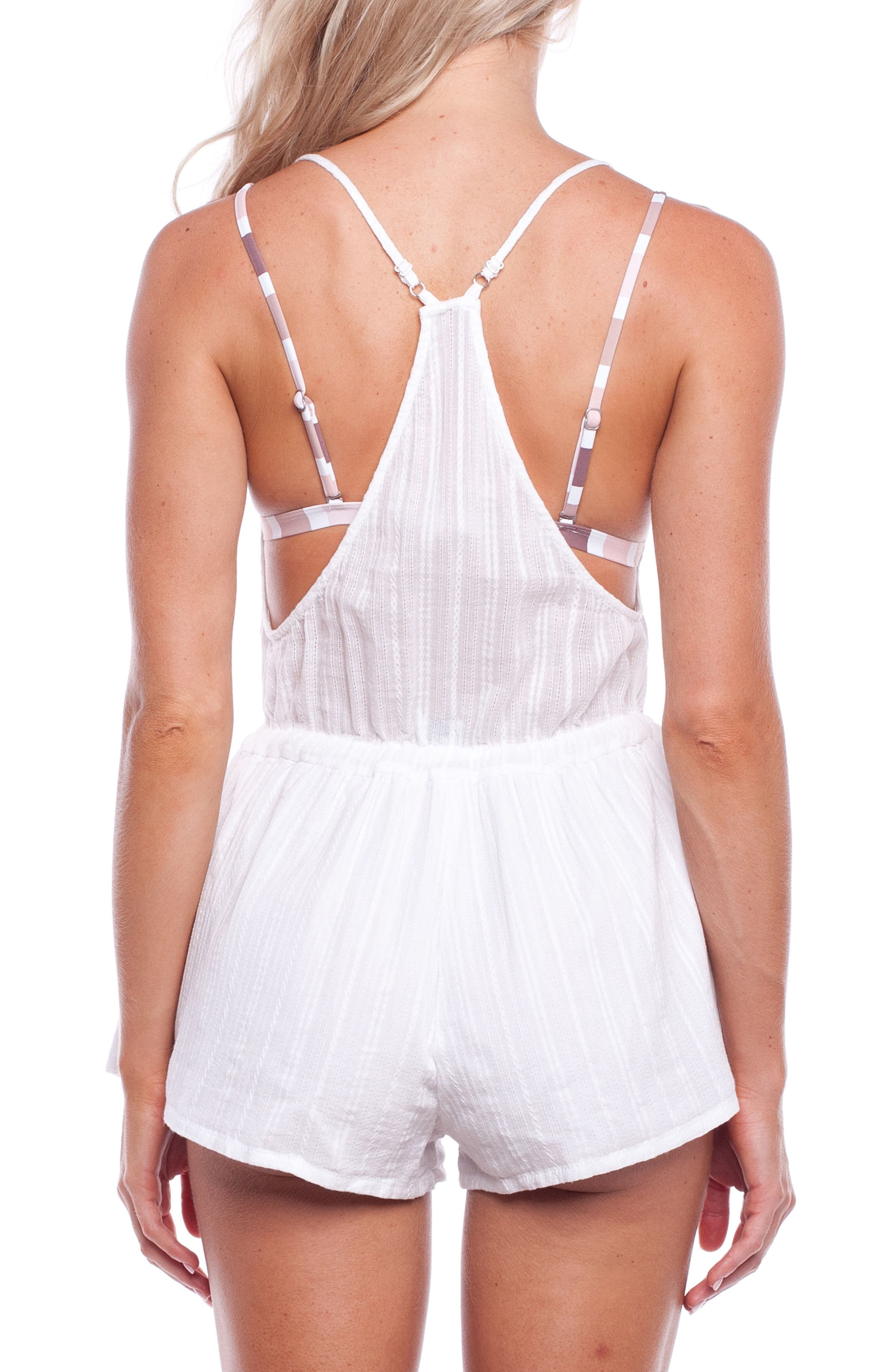 Daydreamer Cover-Up Romper,                             Alternate thumbnail 2, color,                             NATURAL