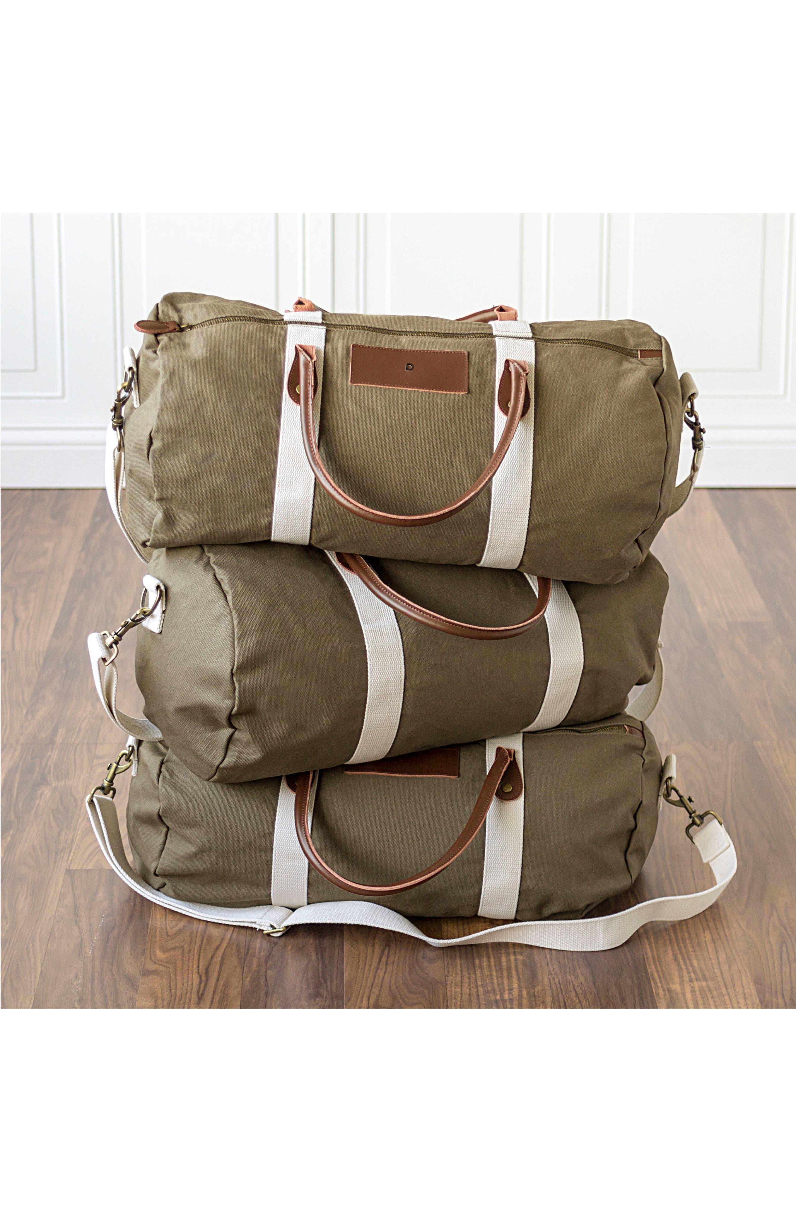 Monogram Duffel Bag,                             Alternate thumbnail 7, color,                             GREEN
