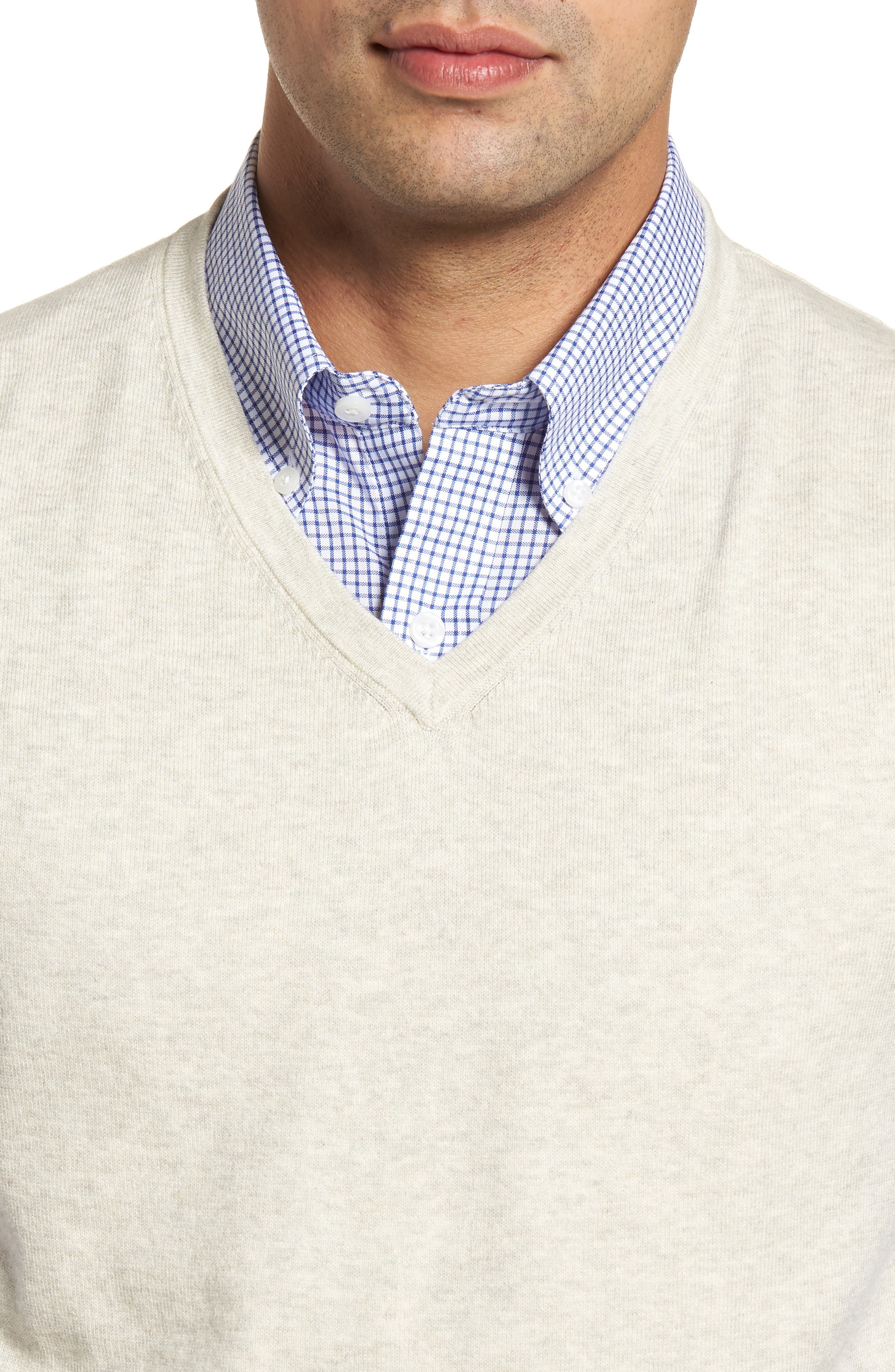 Lakemont Classic Fit Sweater Vest,                             Alternate thumbnail 4, color,                             OATMEAL HEATHER
