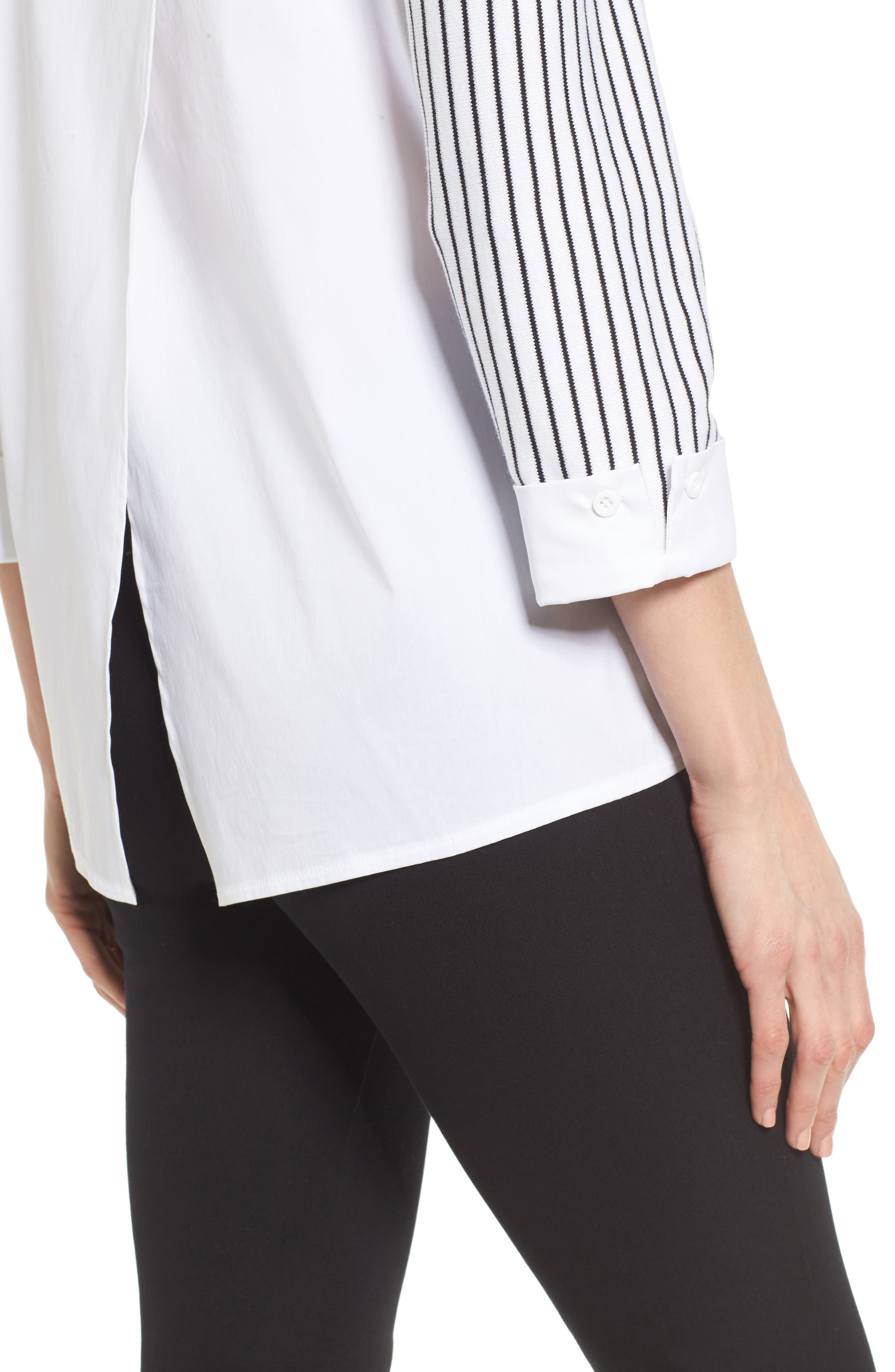 Crossover Tunic,                             Alternate thumbnail 4, color,                             PEAR/ BLACK/ WHITE