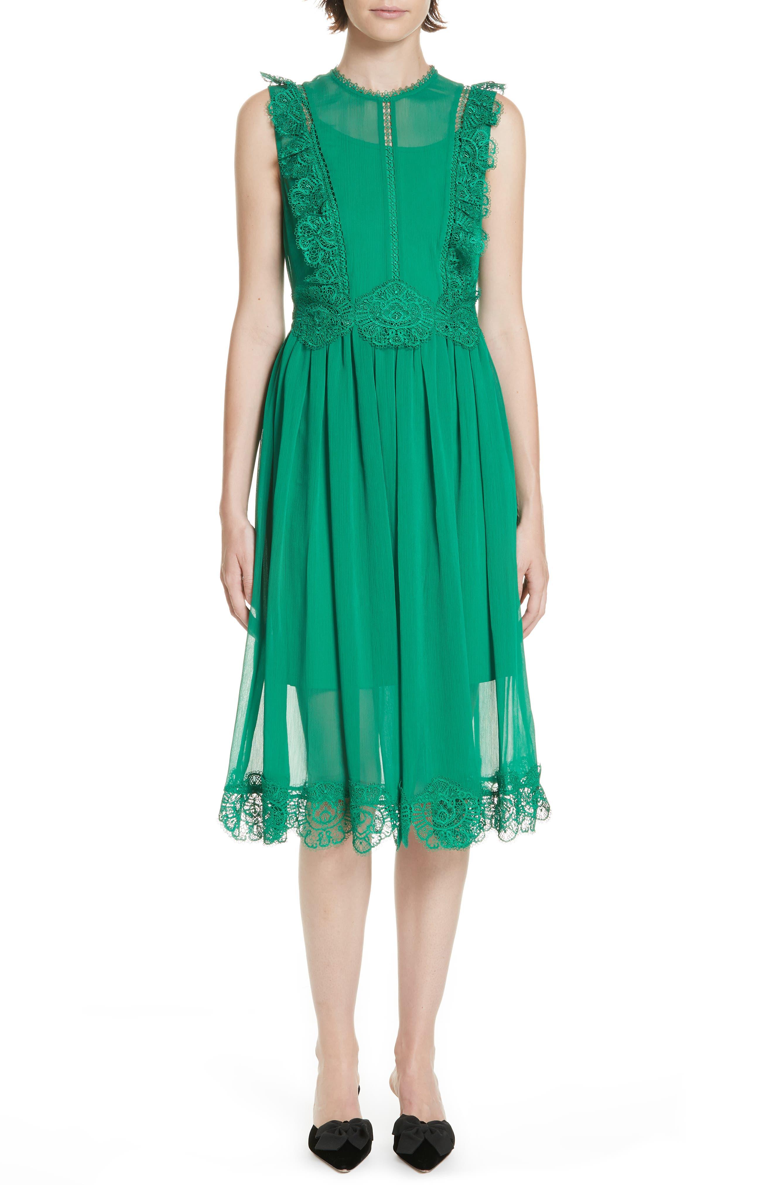Ted Baker London Porrla Midi Dress, Green