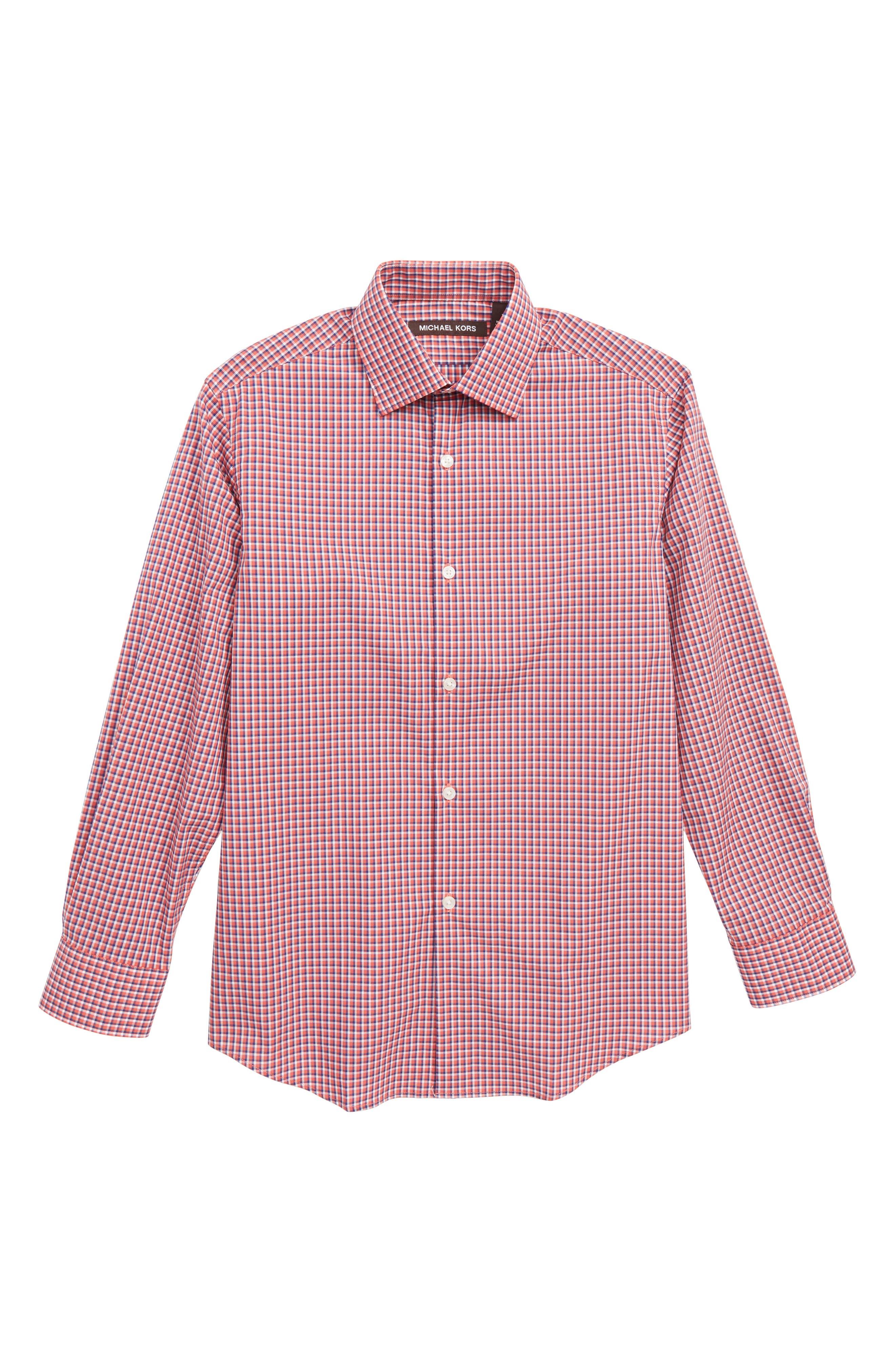 Check Dress Shirt,                             Main thumbnail 1, color,                             600
