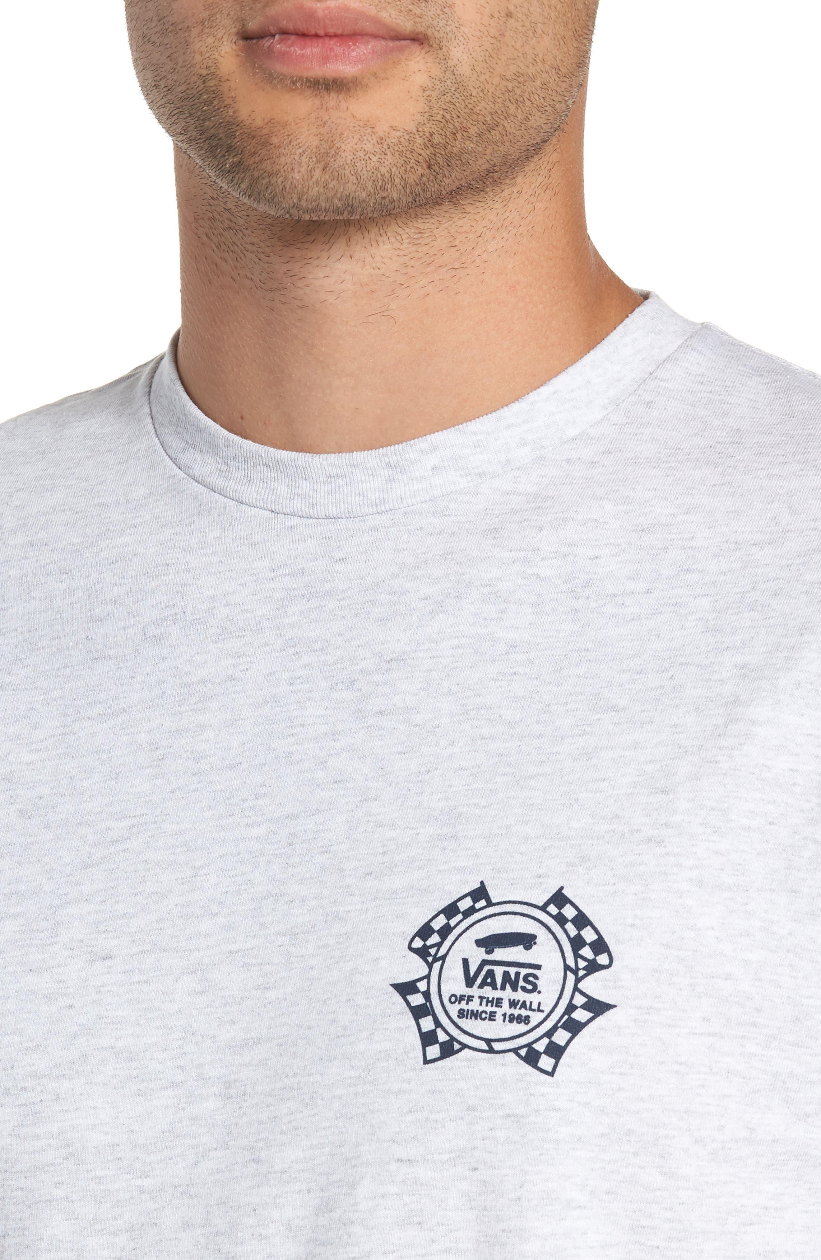 Check It Long Sleeve T-Shirt,                             Alternate thumbnail 4, color,                             ASH HEATHER