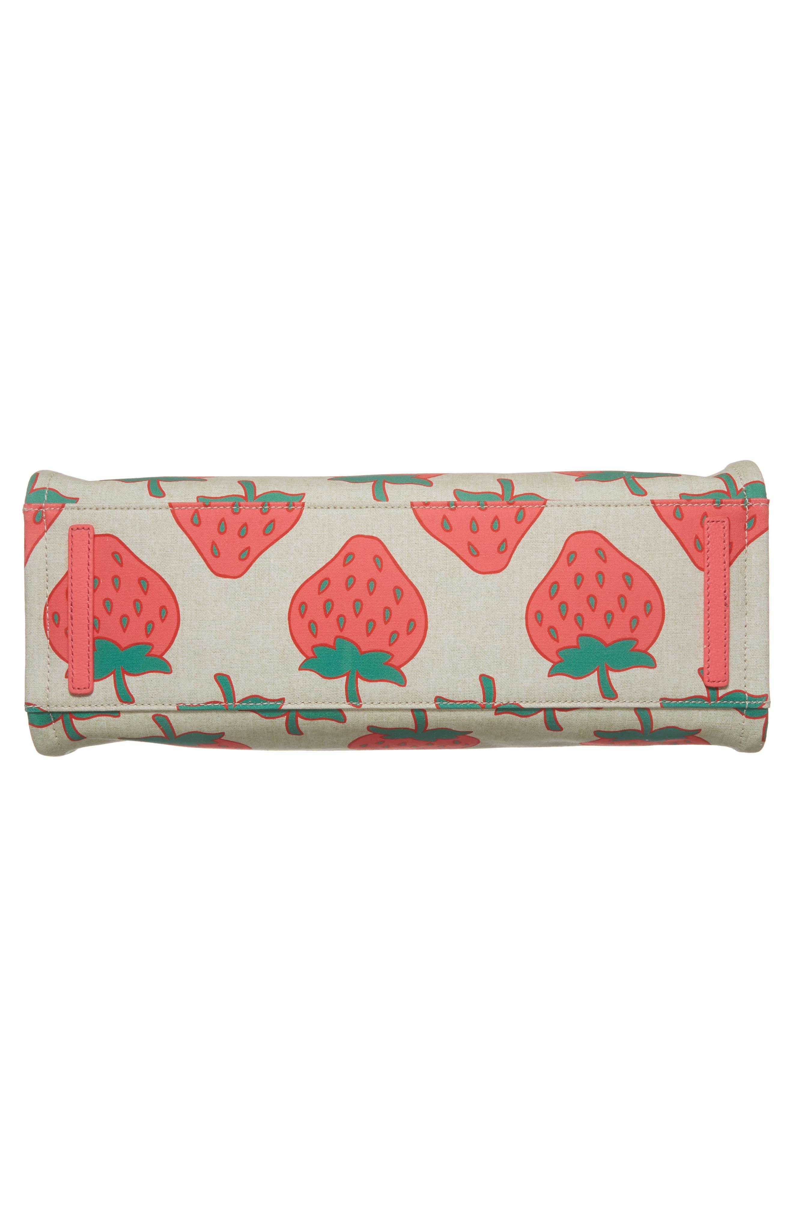 picnic perfect strawberry canvas mega sam canvas tote,                             Alternate thumbnail 6, color,                             650