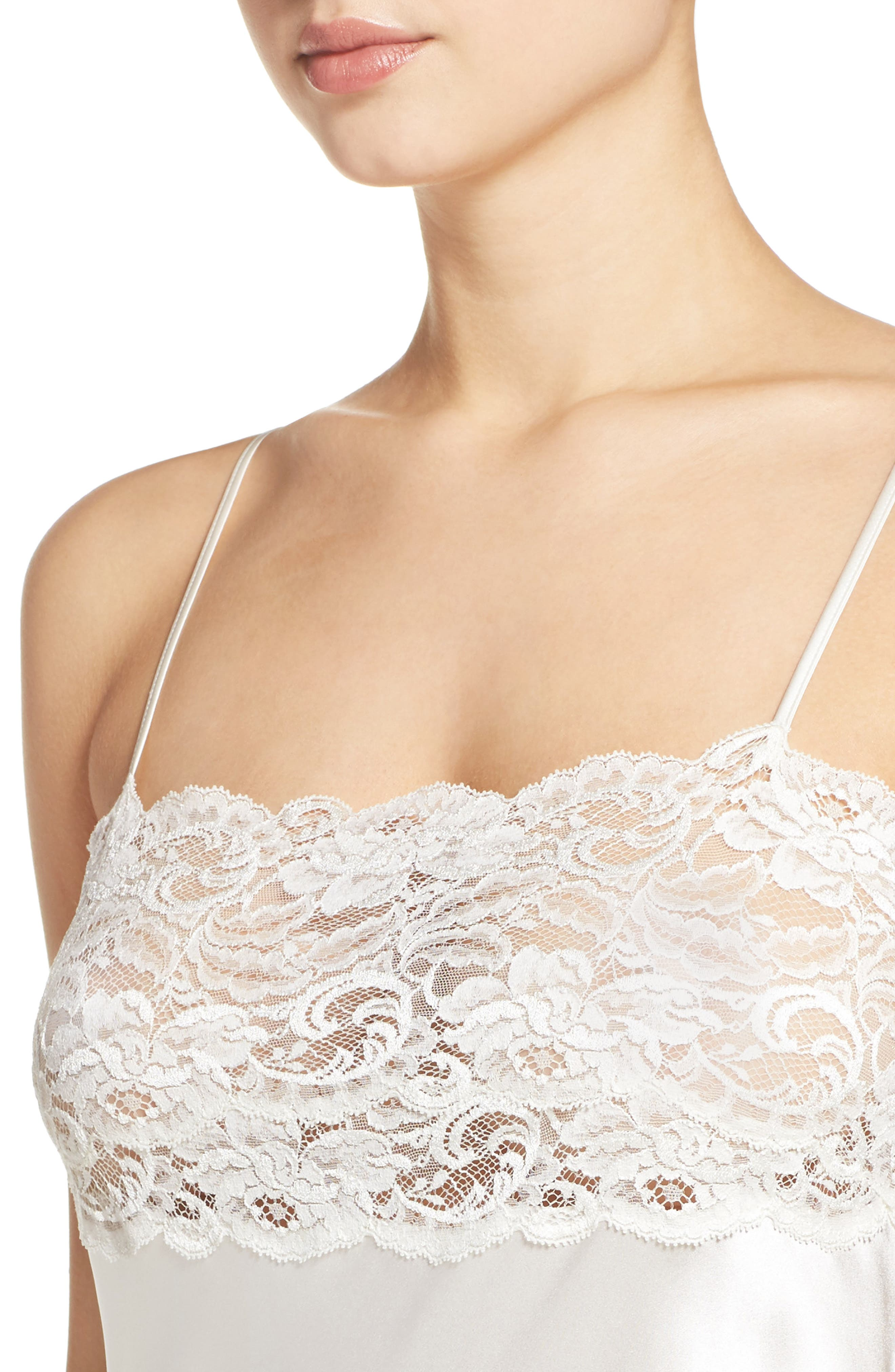 Lace & Silk Nightgown,                             Alternate thumbnail 8, color,