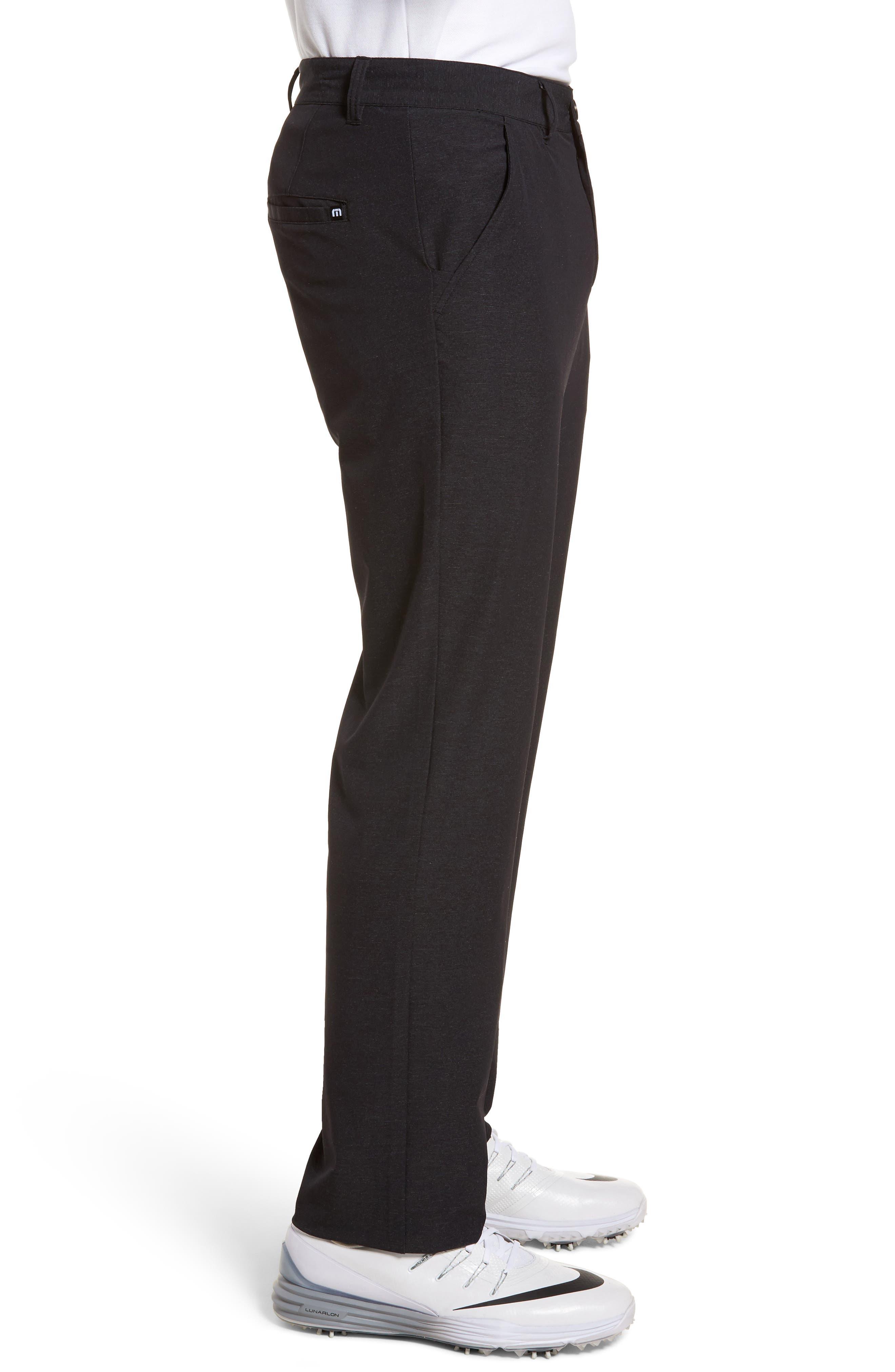 Mercurio Regular Fit Four-Way Stretch Pants,                             Alternate thumbnail 3, color,                             HEATHER BLACK