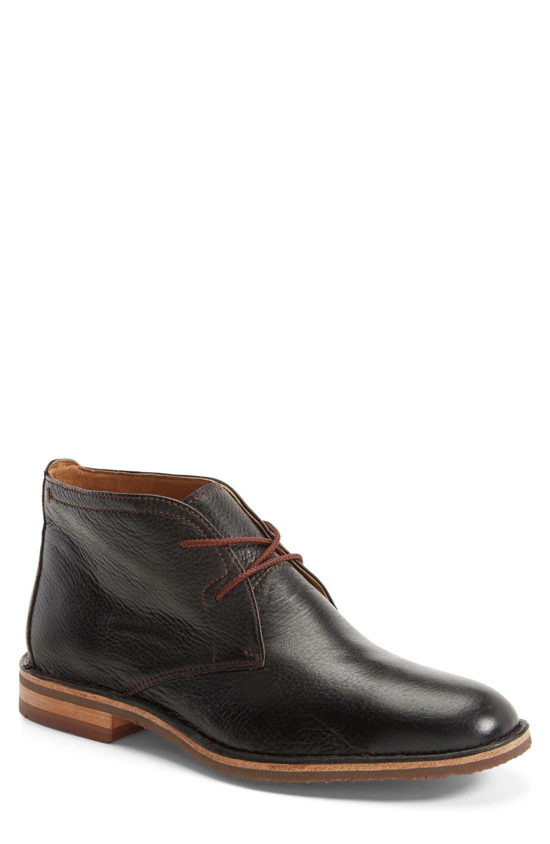 'Brady' Chukka Boot,                         Main,                         color, BLACK NORWEGIAN ELK