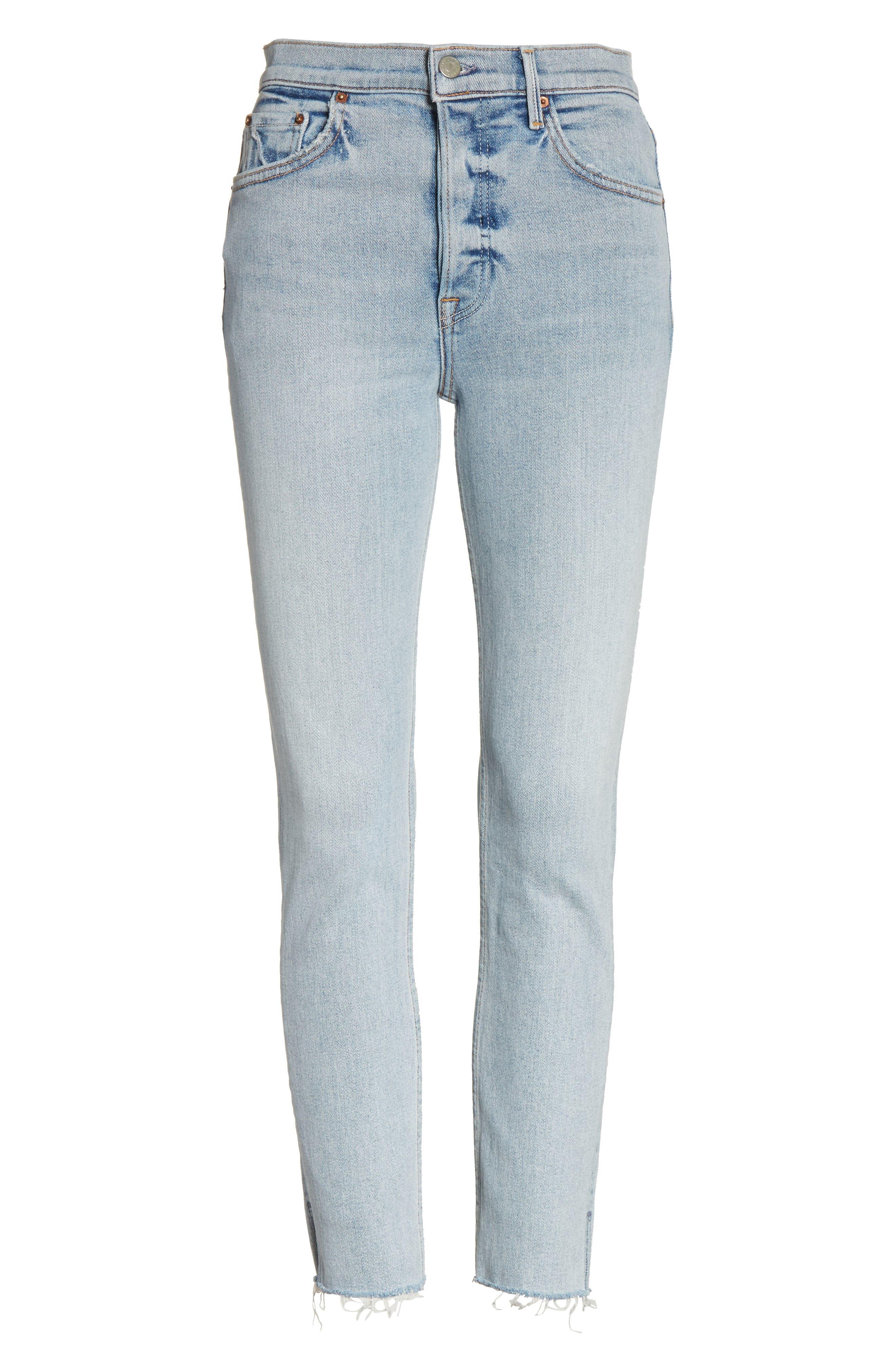 Karolina High Waist Skinny Jeans,                             Alternate thumbnail 7, color,                             TITANIUM