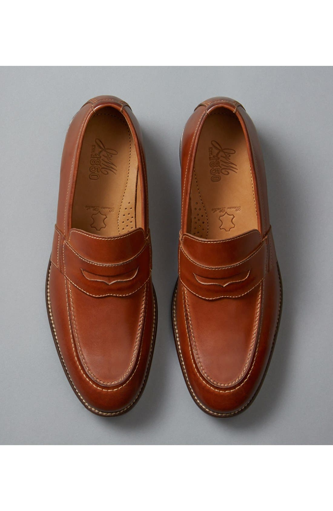 J & M 1850 'Allred' Penny Loafer,                             Alternate thumbnail 6, color,                             240