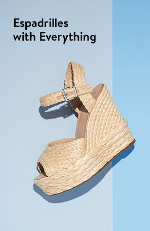Women's wedge espadrille sandals.