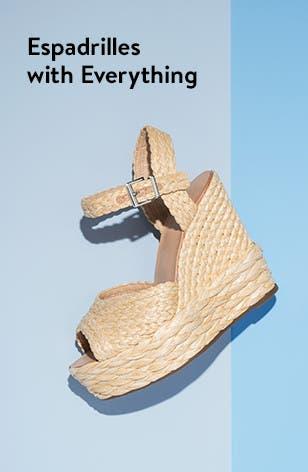 Women's wedge espadrille sandals.
