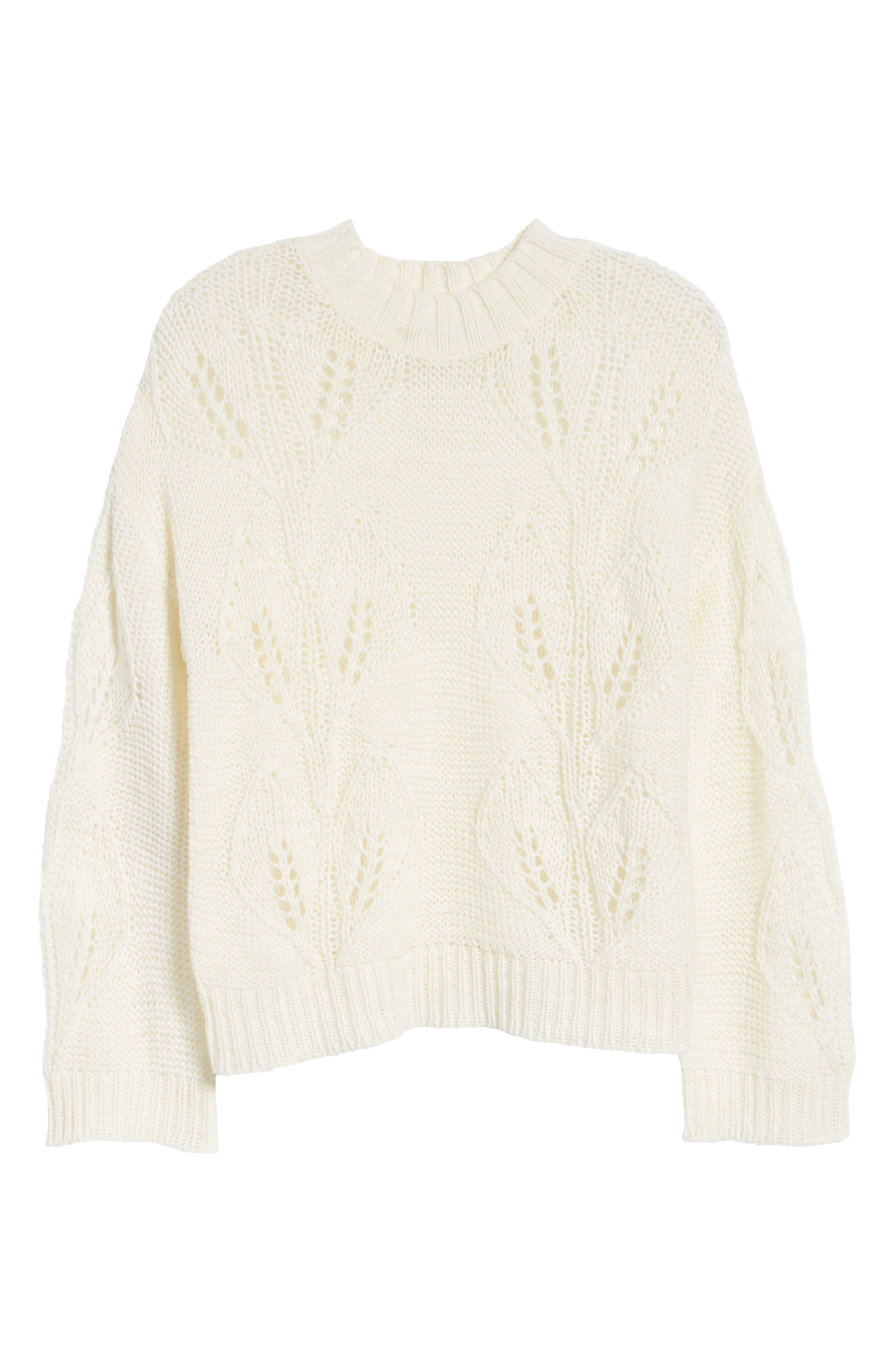 Bishop + Young Botanical Sweater,                             Alternate thumbnail 6, color,                             CREAM