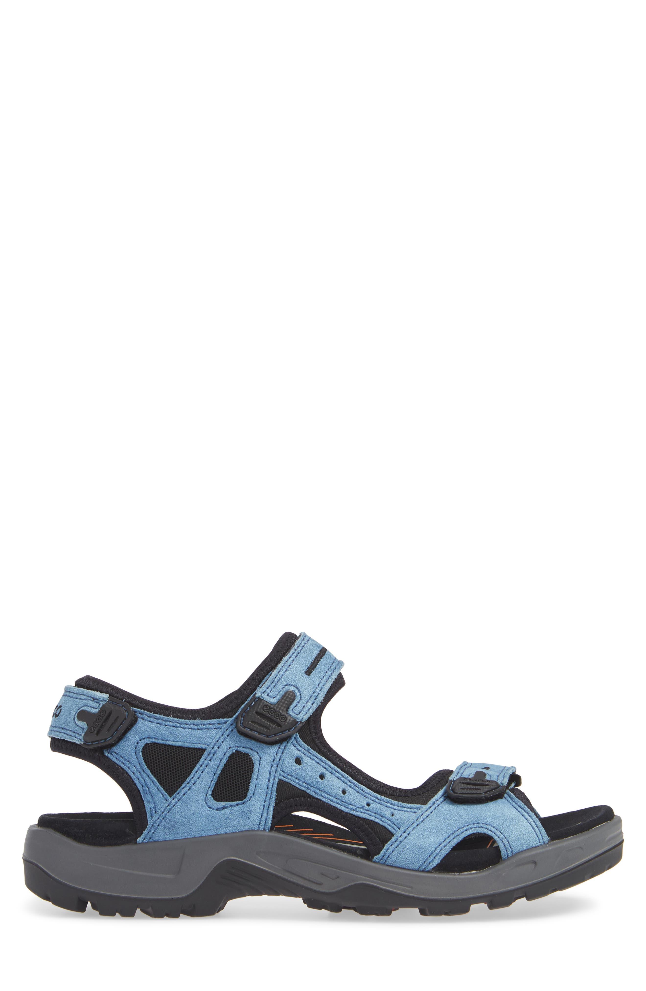 Offroad Sport Sandal,                             Alternate thumbnail 3, color,                             INDIGO LEATHER
