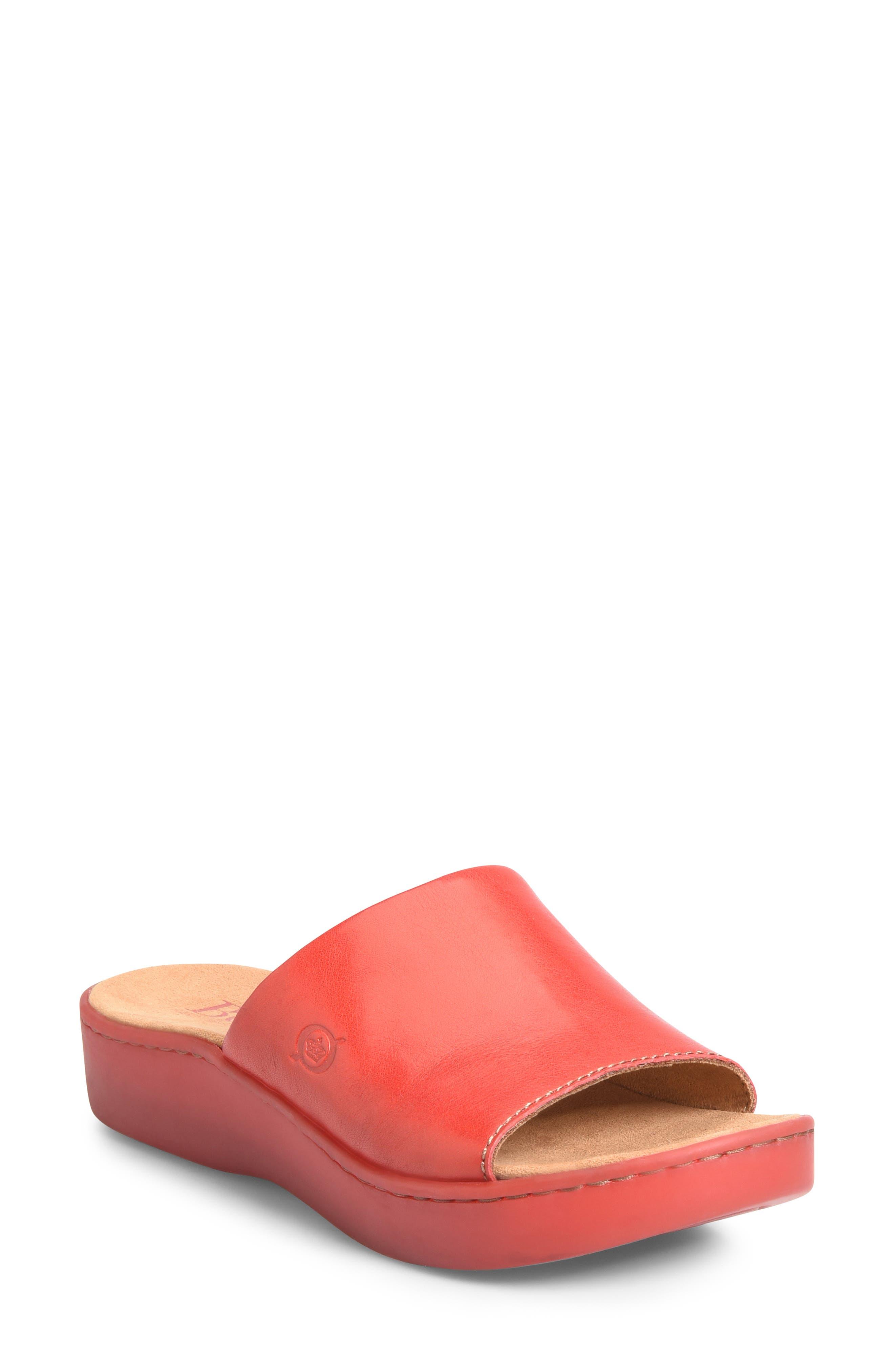 B?rn Ottawa Slide Sandal, Red