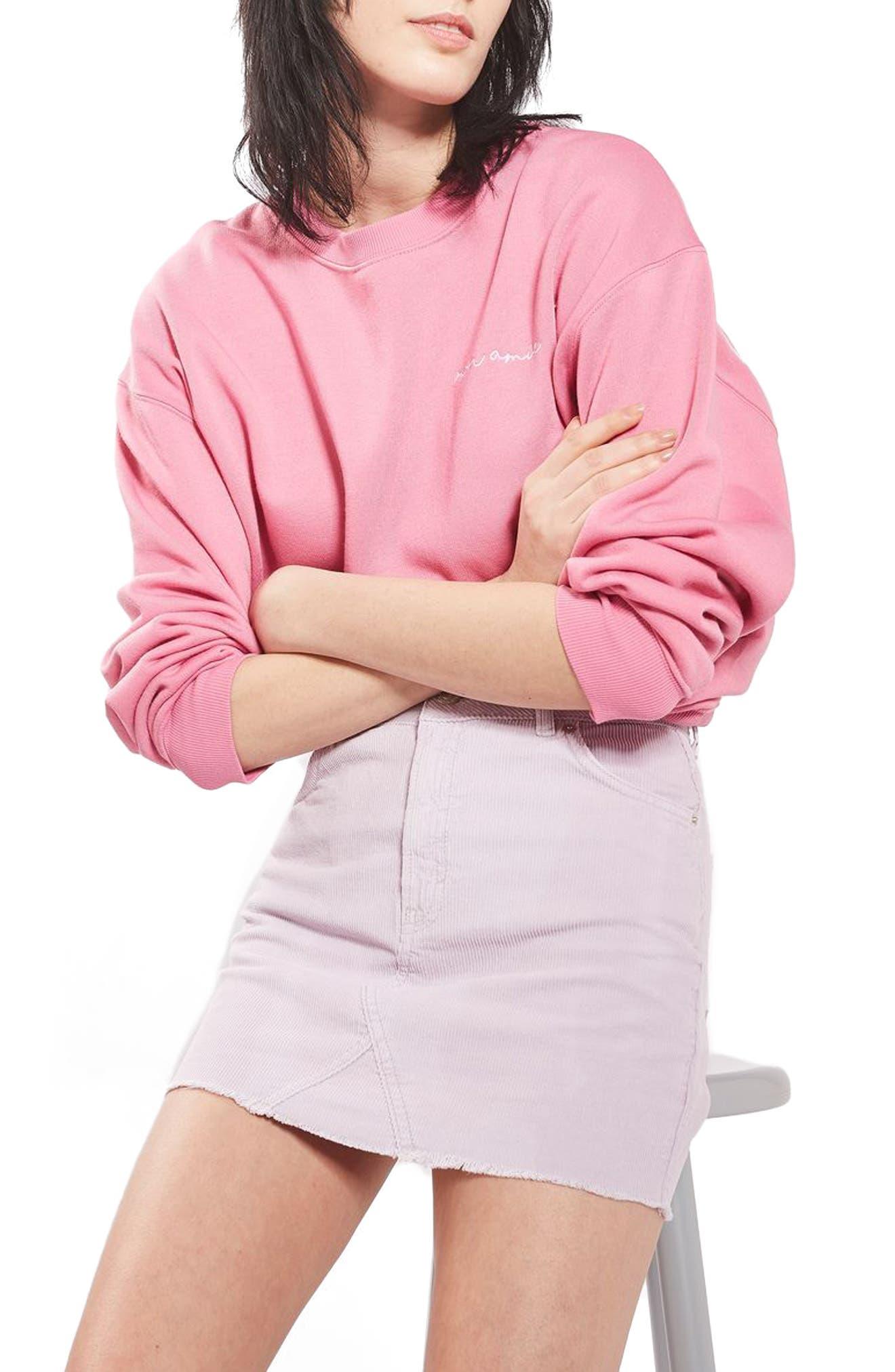 High Rise Corduroy Miniskirt,                             Alternate thumbnail 3, color,                             530