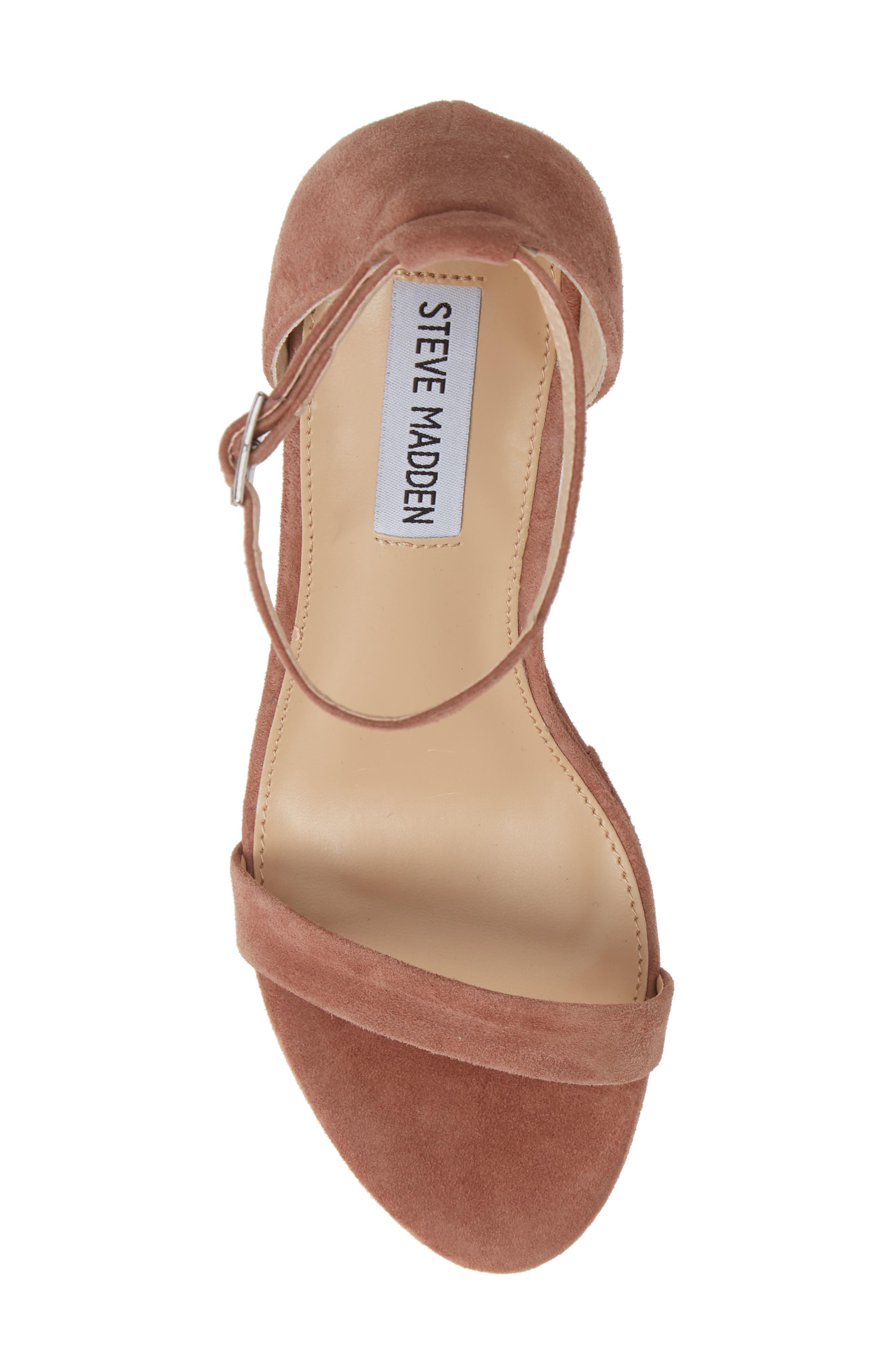 Succeed Platform Wedge Sandal,                             Alternate thumbnail 5, color,                             TAN SUEDE