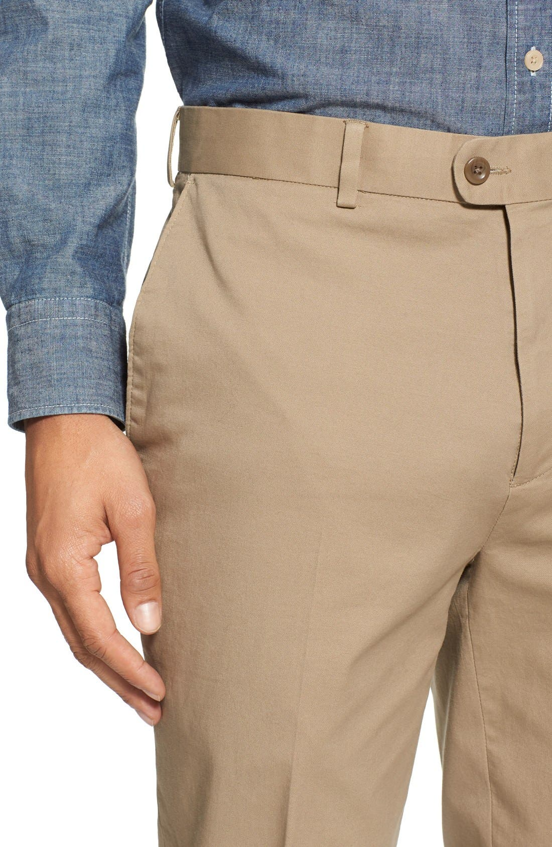 Washed Trim Fit Stretch Cotton Trousers,                             Alternate thumbnail 22, color,