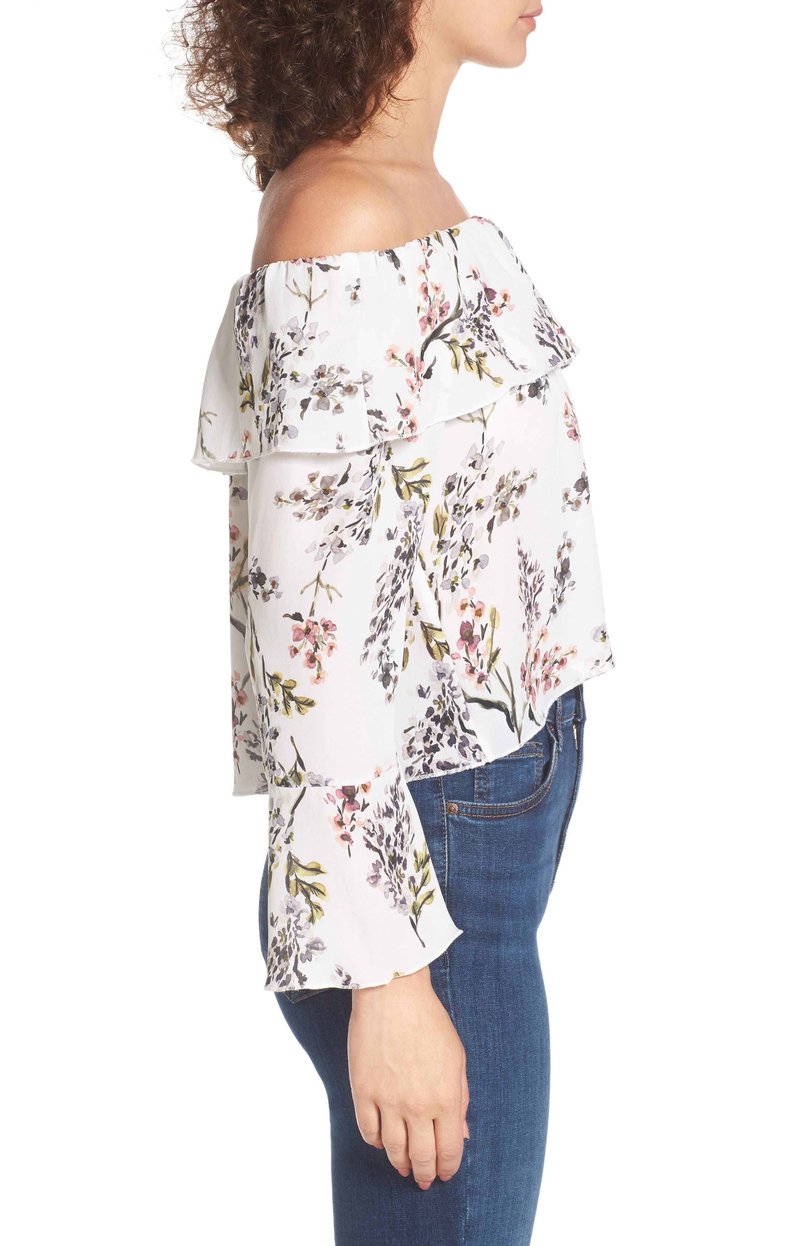 Kennedy Off the Shoulder Blouse,                             Alternate thumbnail 5, color,