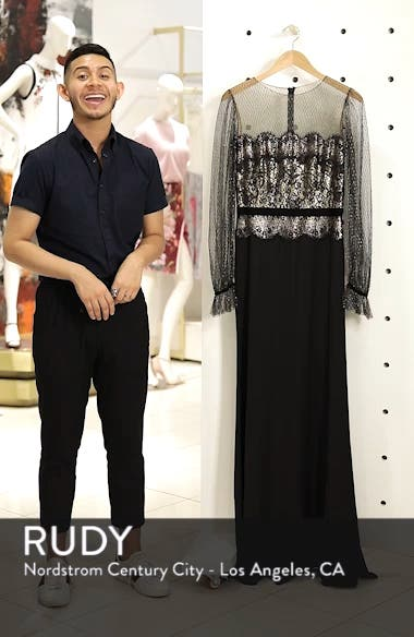 Crepe & Sequin Gown, sales video thumbnail