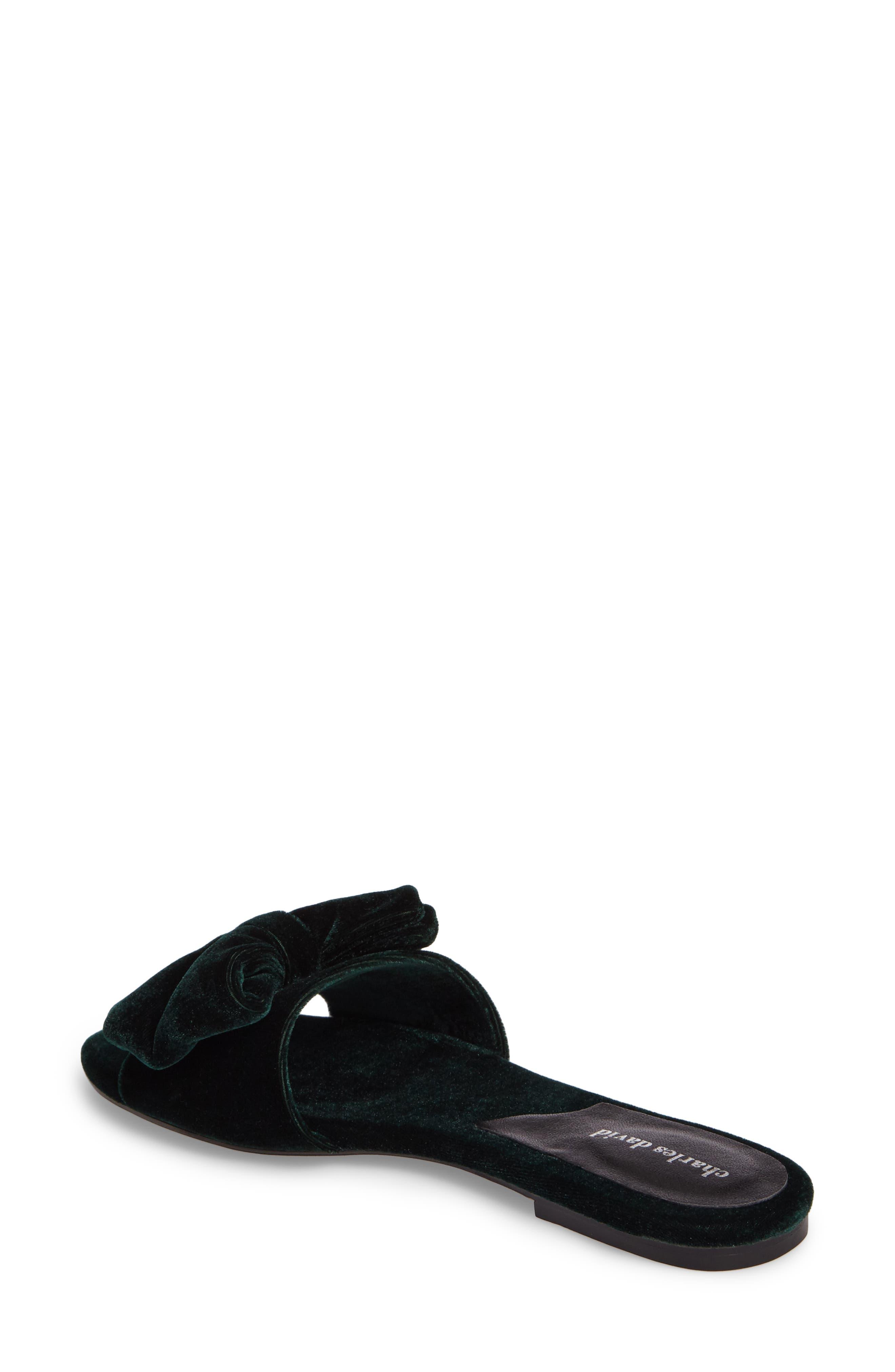 Bow Slide Sandal,                             Alternate thumbnail 4, color,